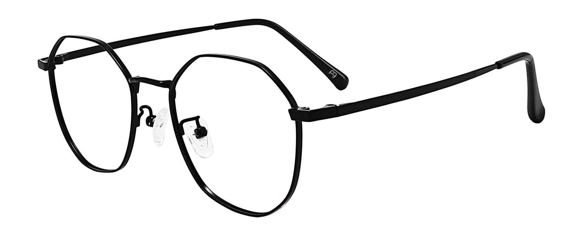 Cobb Geometric Prescription Glasses - Black