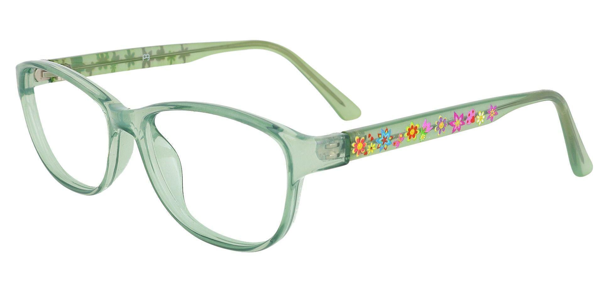 Alpine Oval Prescription Glasses - Green