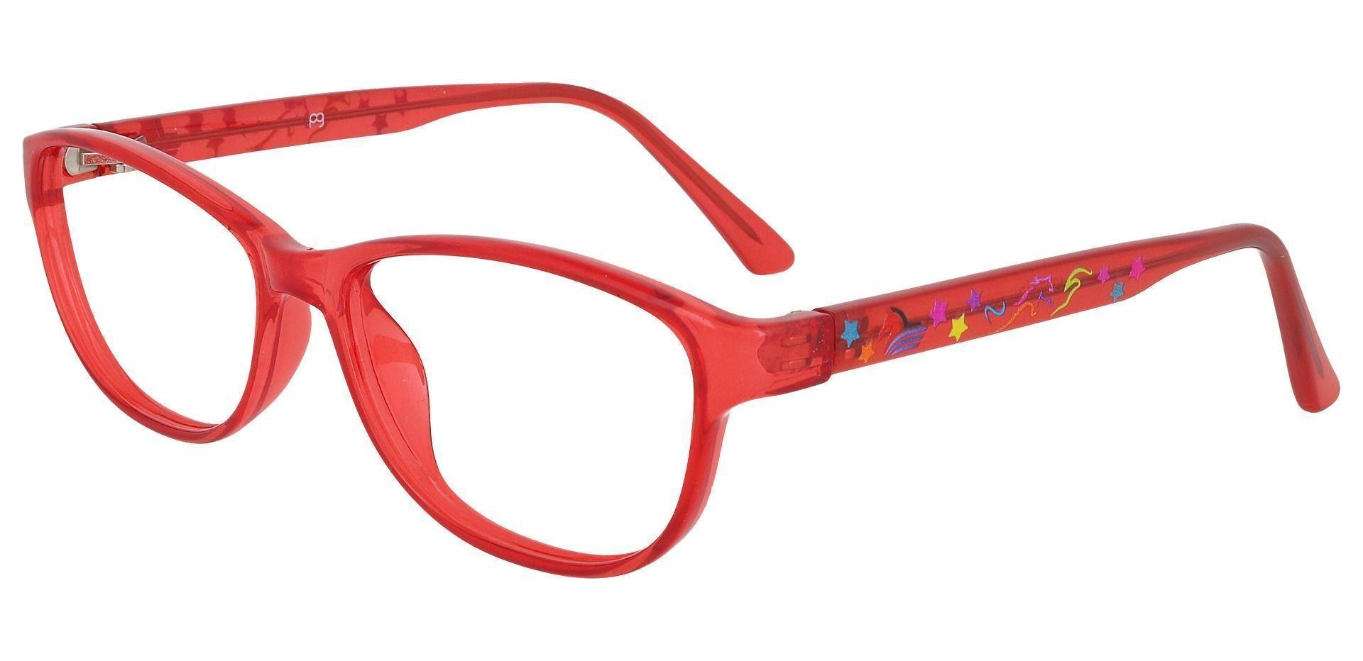 Alpine Oval Prescription Glasses - Red