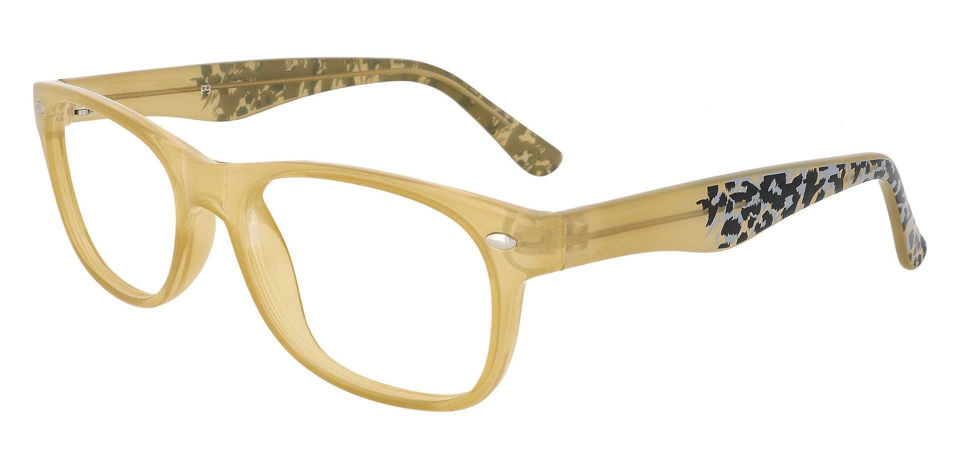 Hyde Rectangle Prescription Glasses - Brown