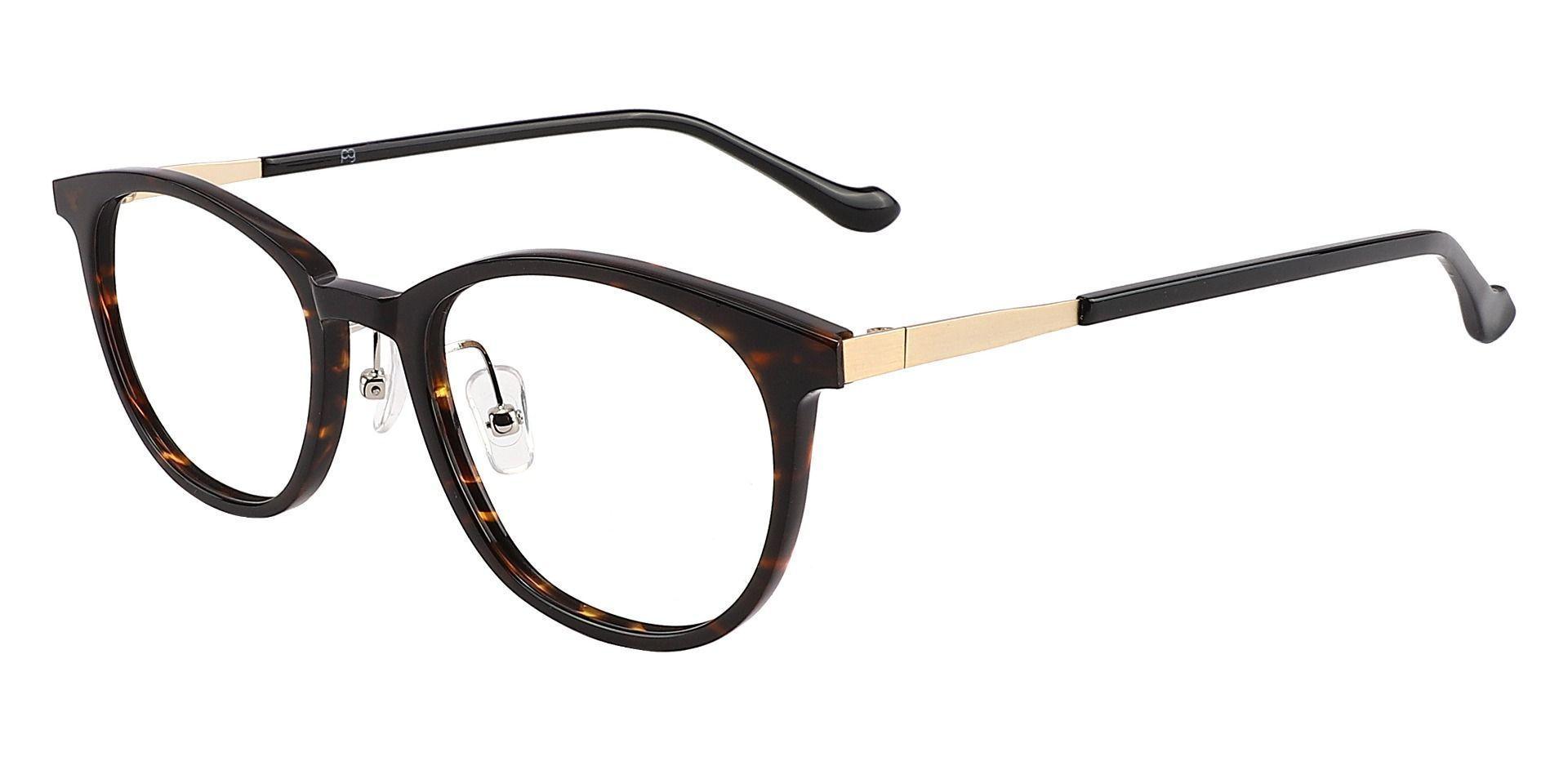 Midway Oval Prescription Glasses - Tortoise