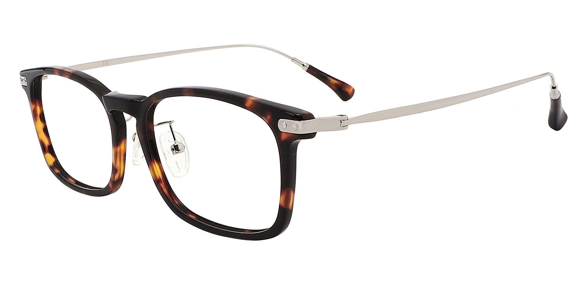 Barron Rectangle Eyeglasses Frame - Tortoise