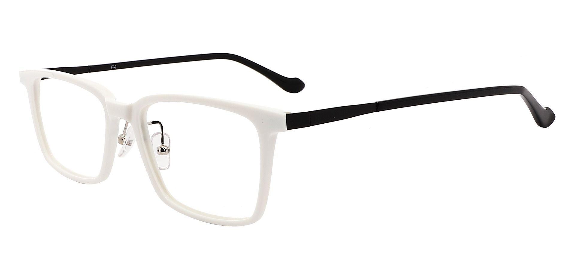 Panama Rectangle Non-Rx Glasses - White