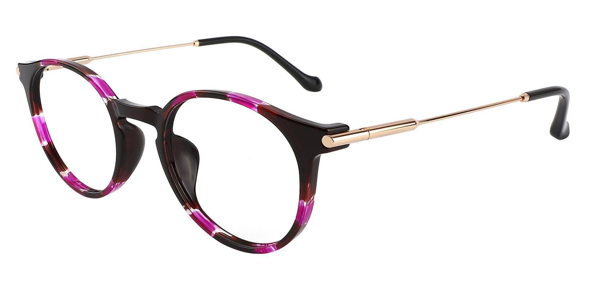 Hallie Round Lined Bifocal Glasses - Purple