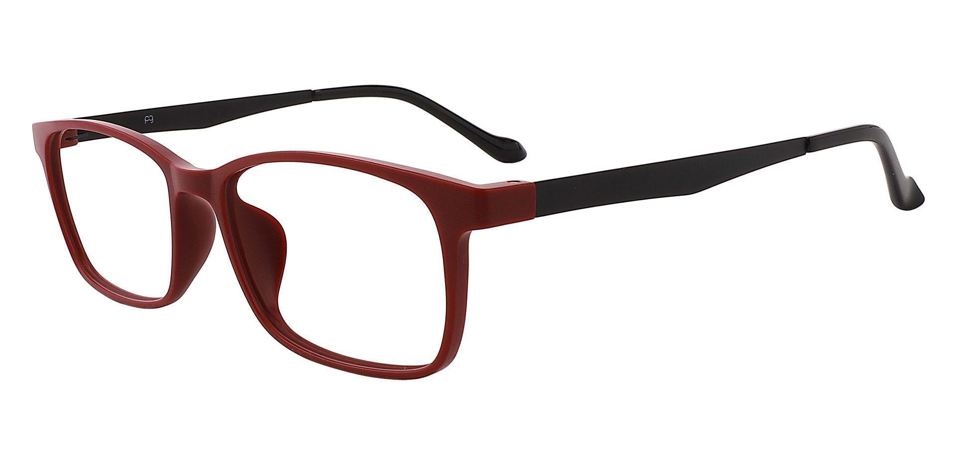 Palmetto Rectangle Blue Light Blocking Glasses - Red