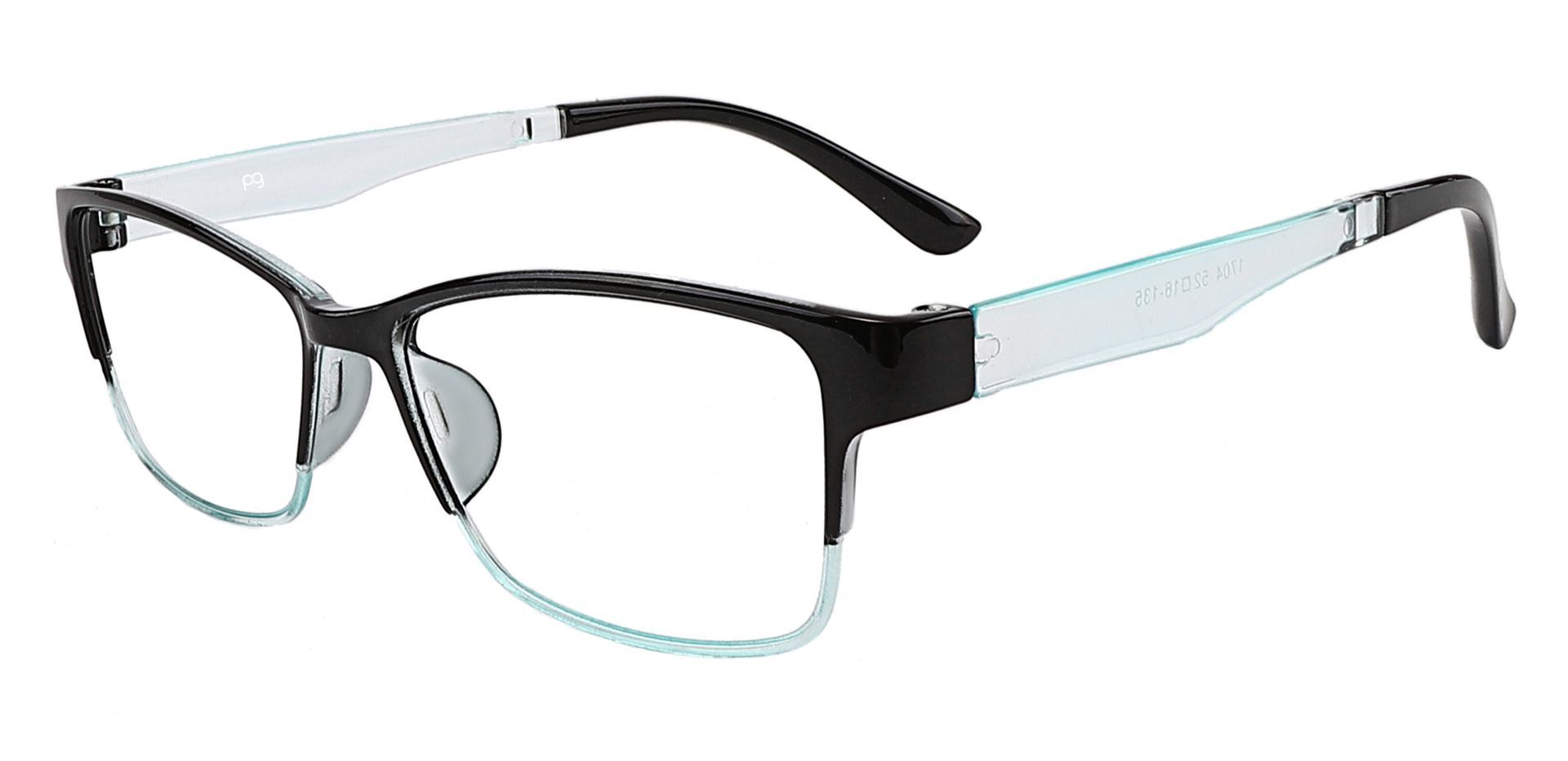 Cantwell Rectangle Reading Glasses - Black