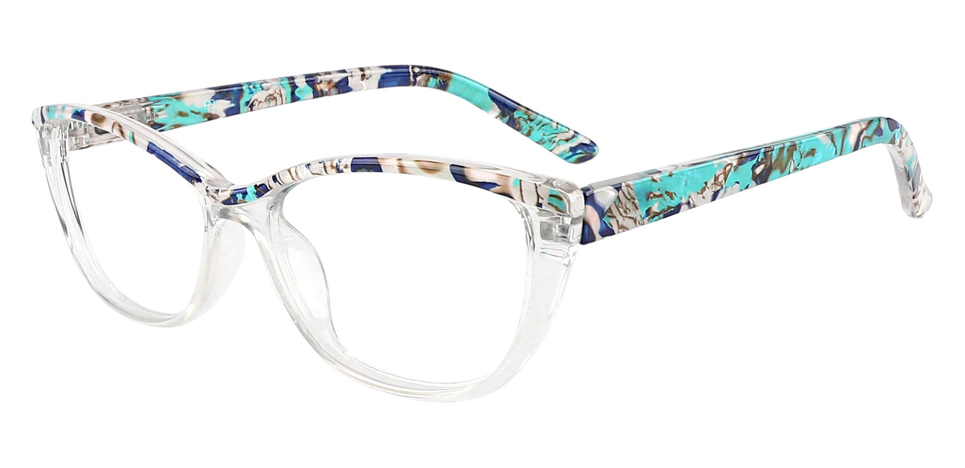 Florence Cat Eye Lined Bifocal Glasses - Blue