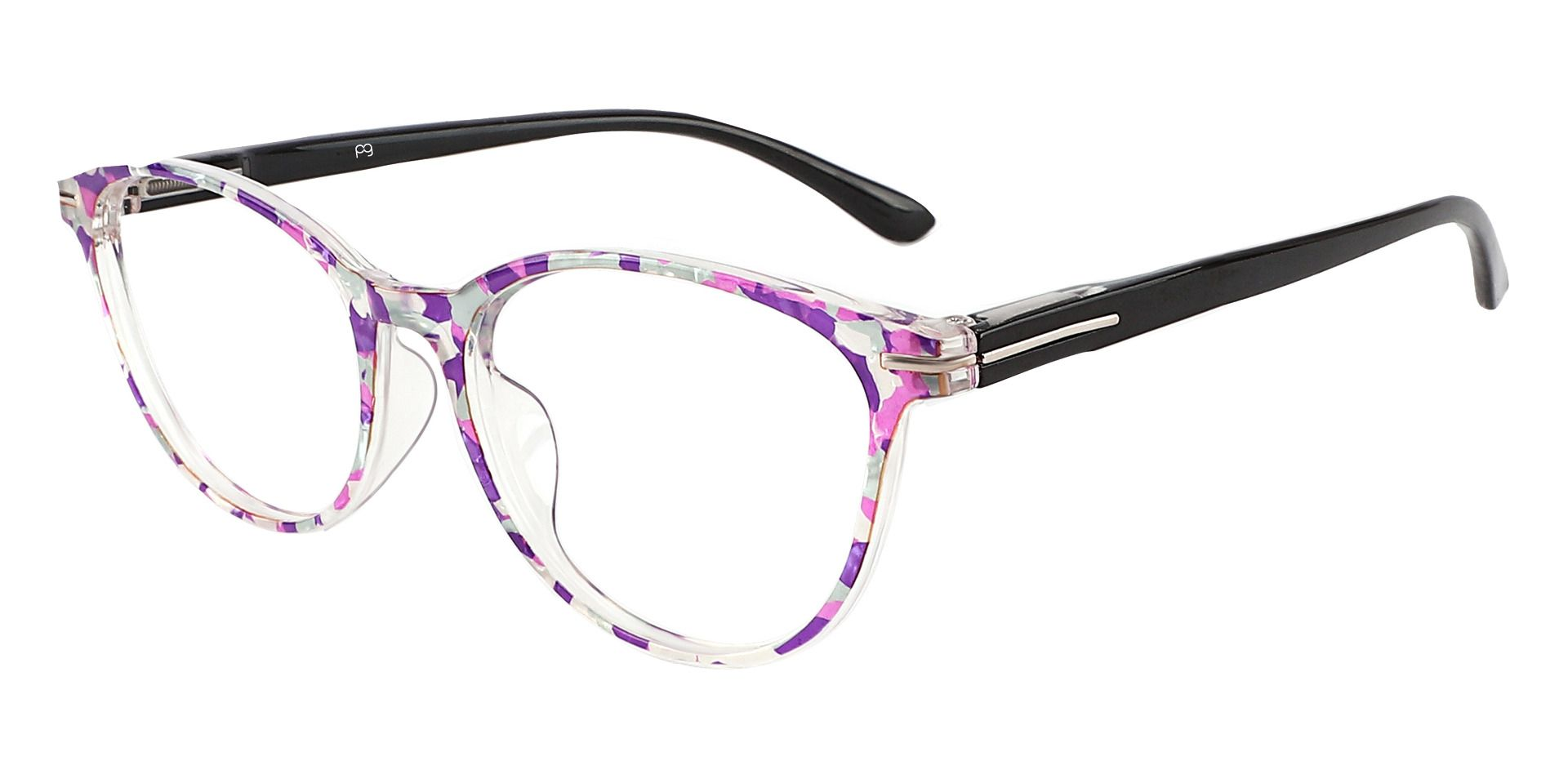 Benton Oval Prescription Glasses - Purple