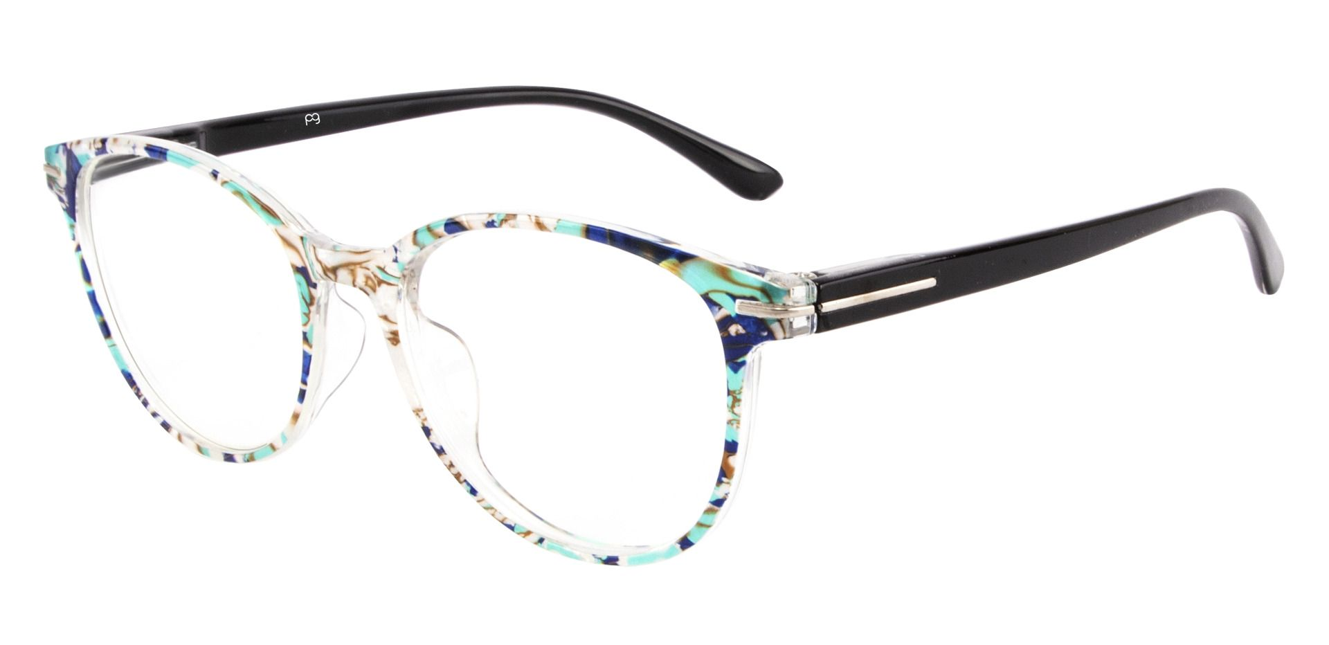 Benton Oval Lined Bifocal Glasses - Floral