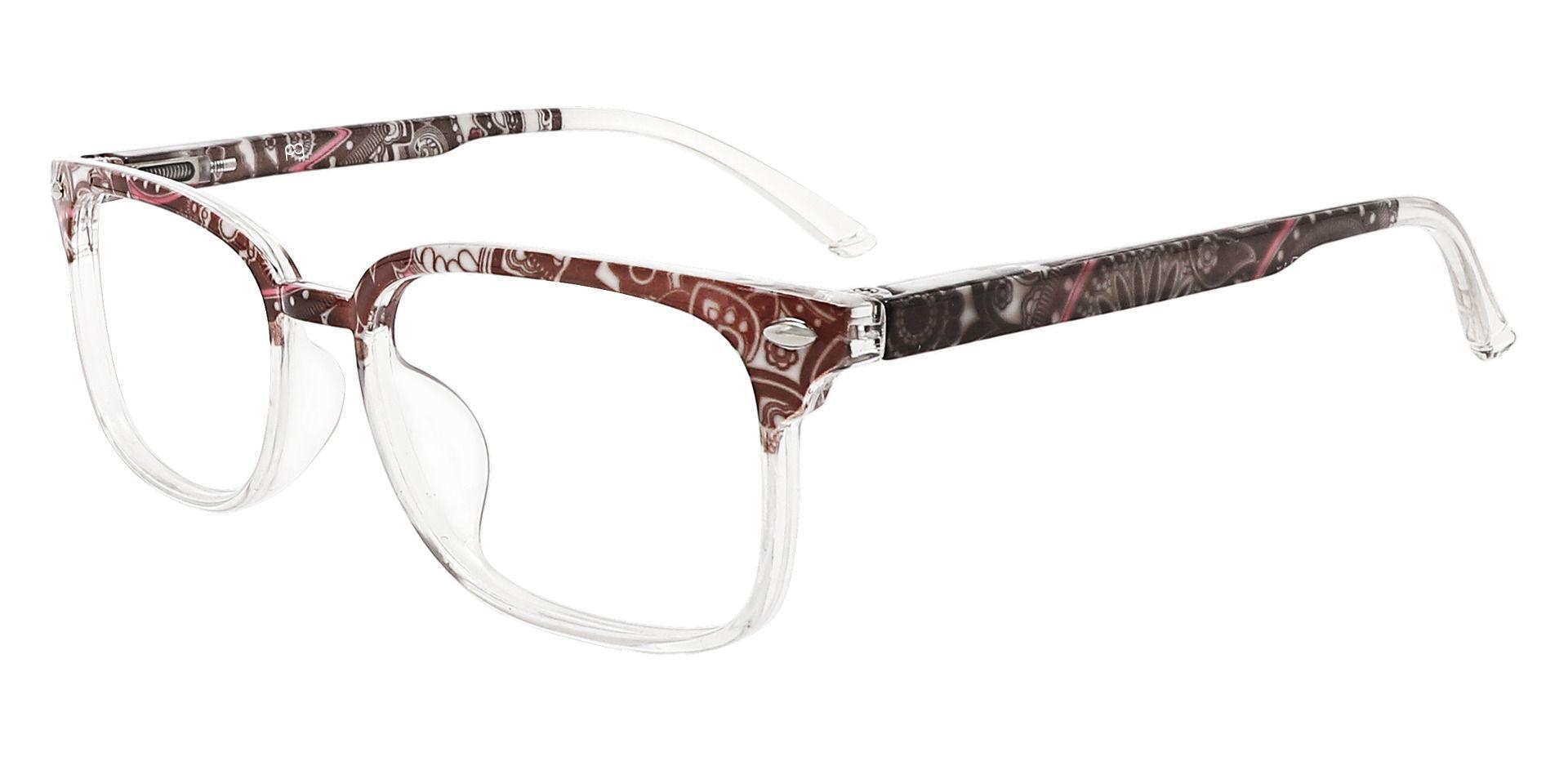 Nikola Rectangle Lined Bifocal Glasses - Brown