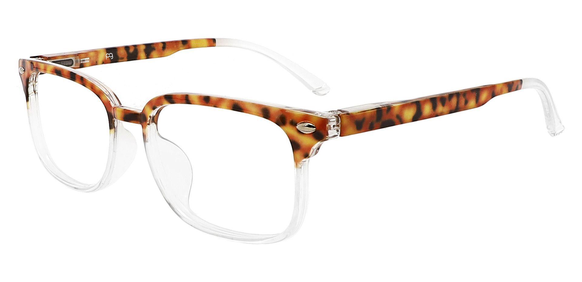 Nikola Rectangle Lined Bifocal Glasses - Tortoise