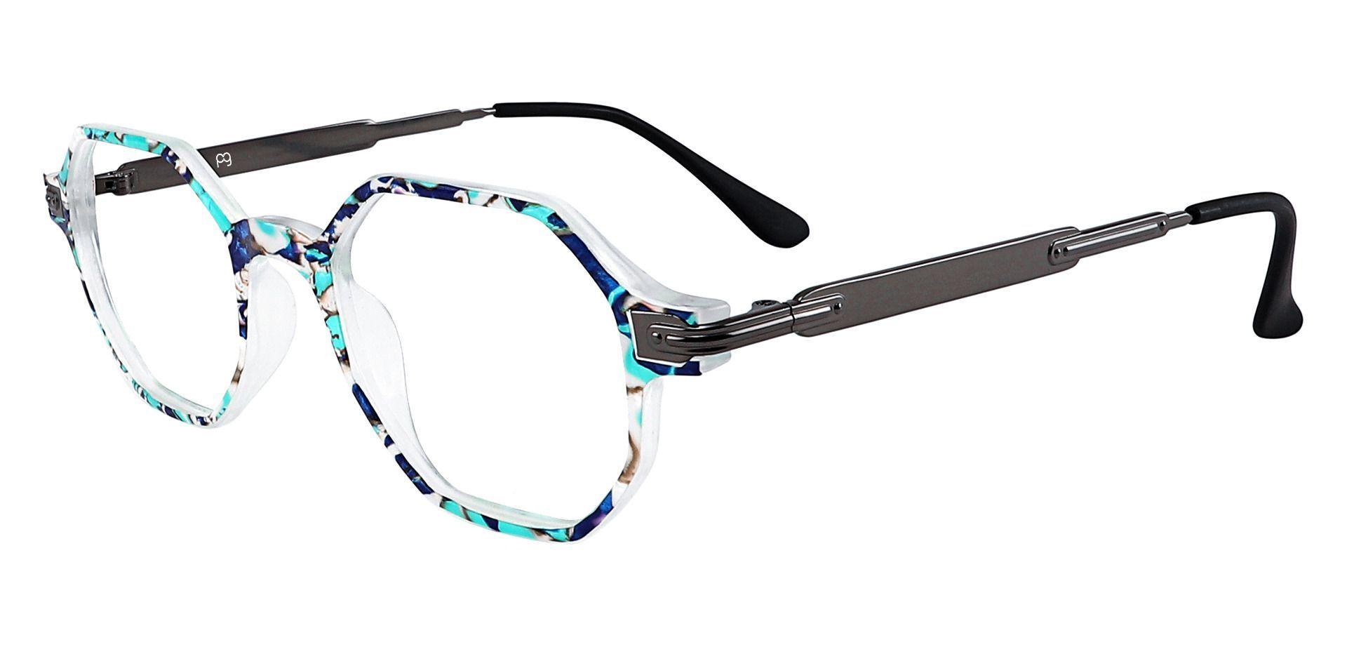 Bogart Geometric Eyeglasses Frame - Blue