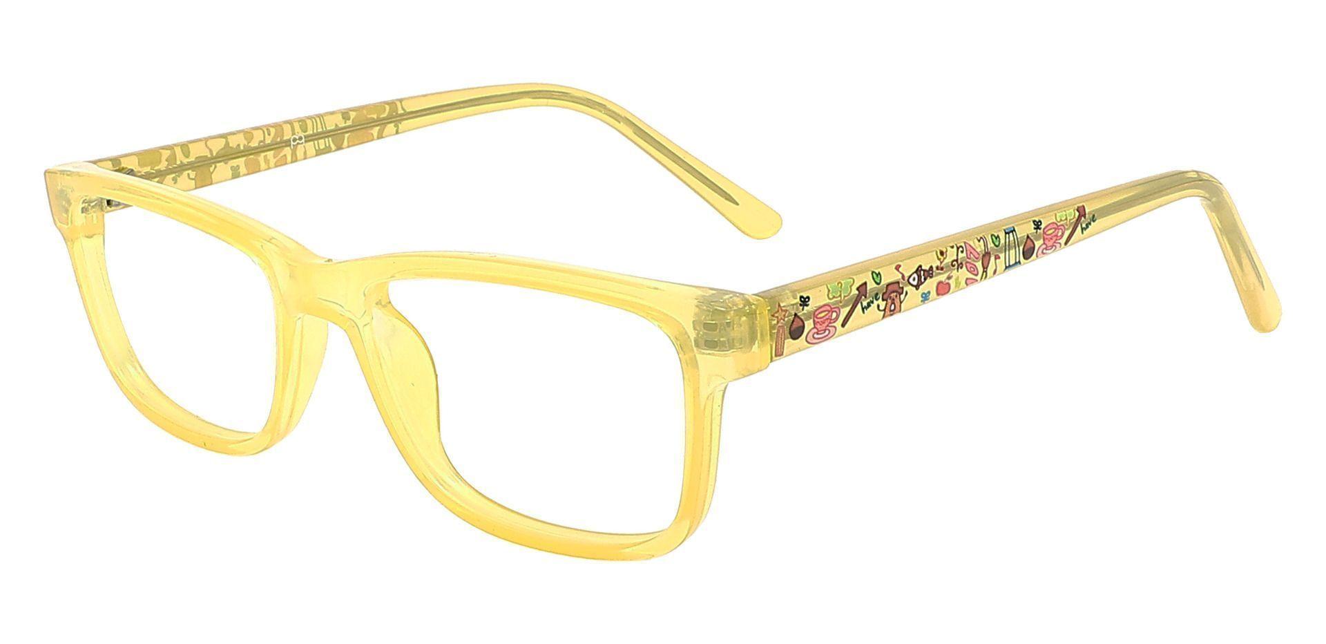 Cory Rectangle Prescription Glasses - Yellow
