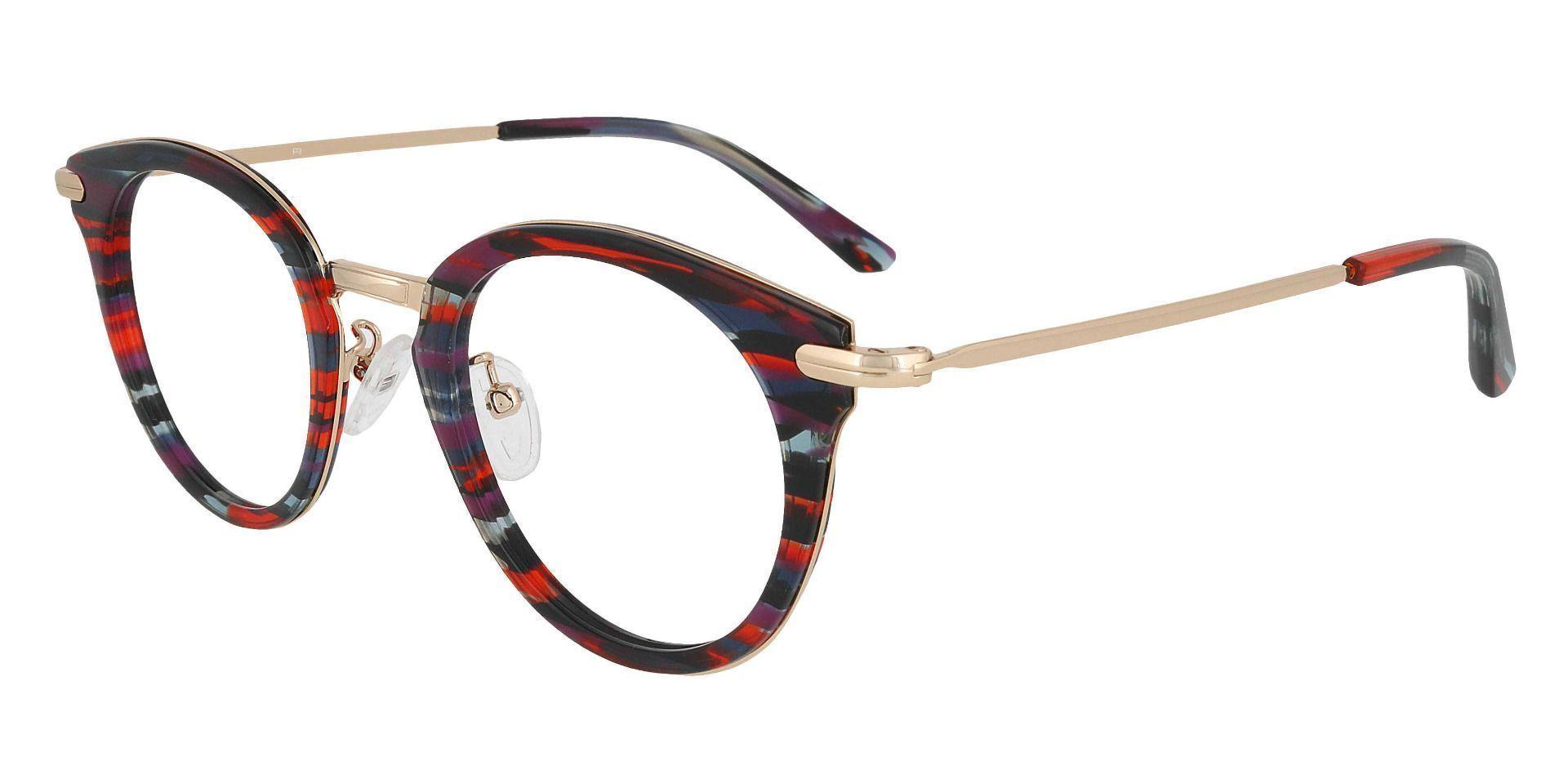 Seneca Round Prescription Glasses - Striped