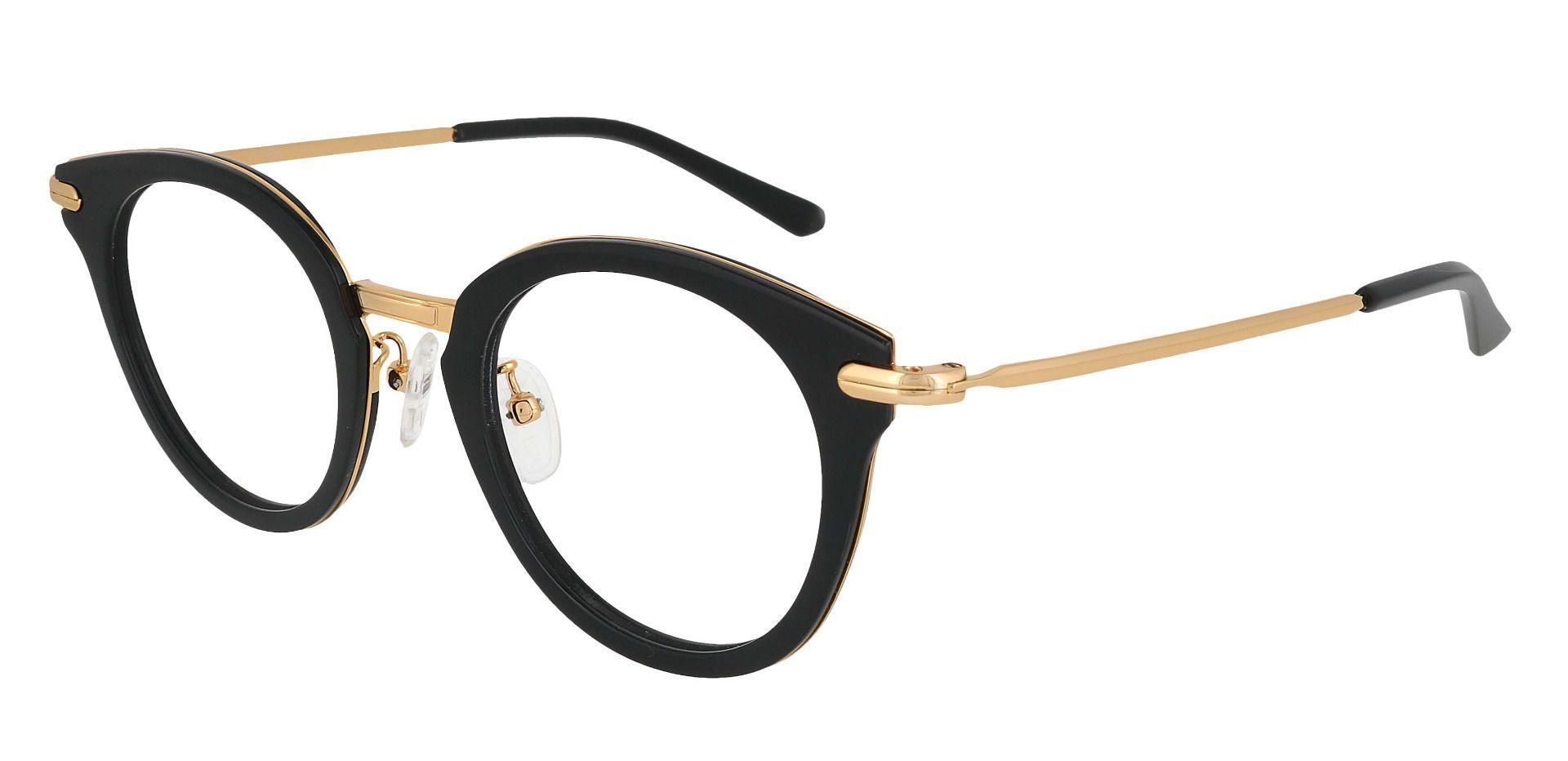 Seneca Round Prescription Glasses - Black