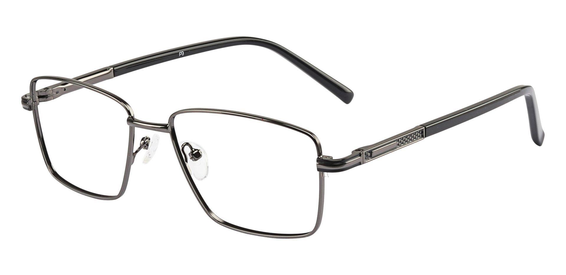 Daniel Rectangle Prescription Glasses -    Gunmetal