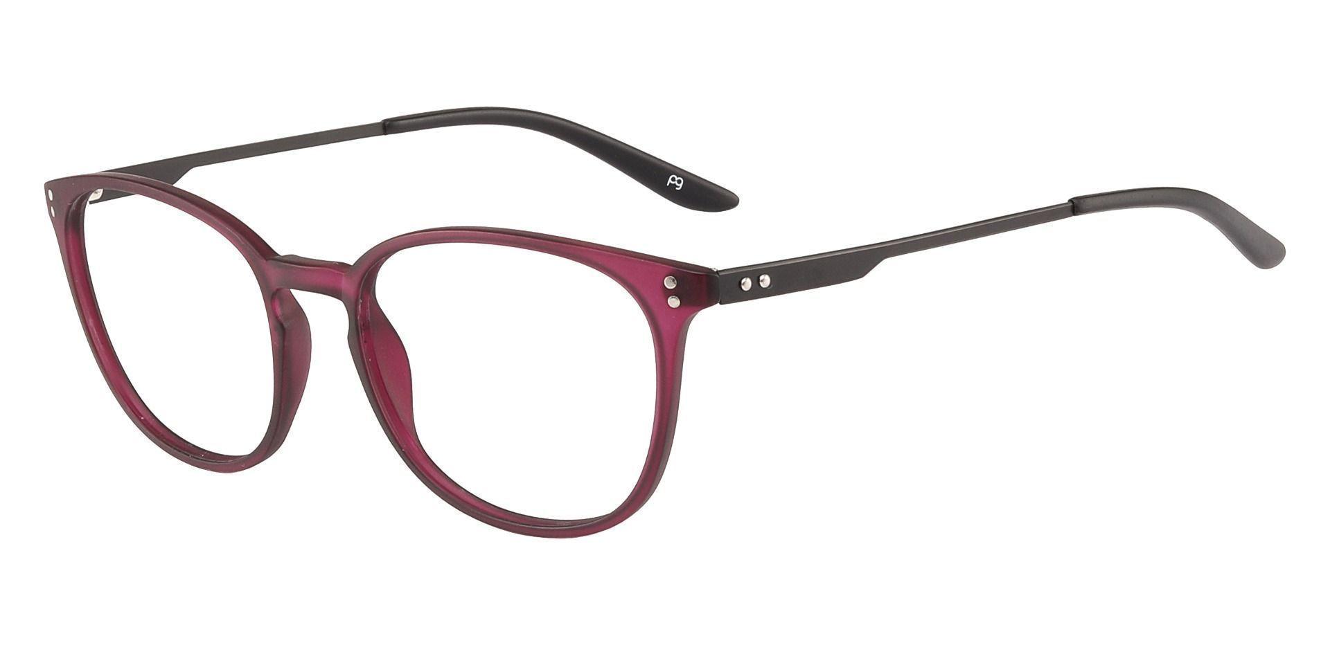 Wales Oval Prescription Glasses - Purple