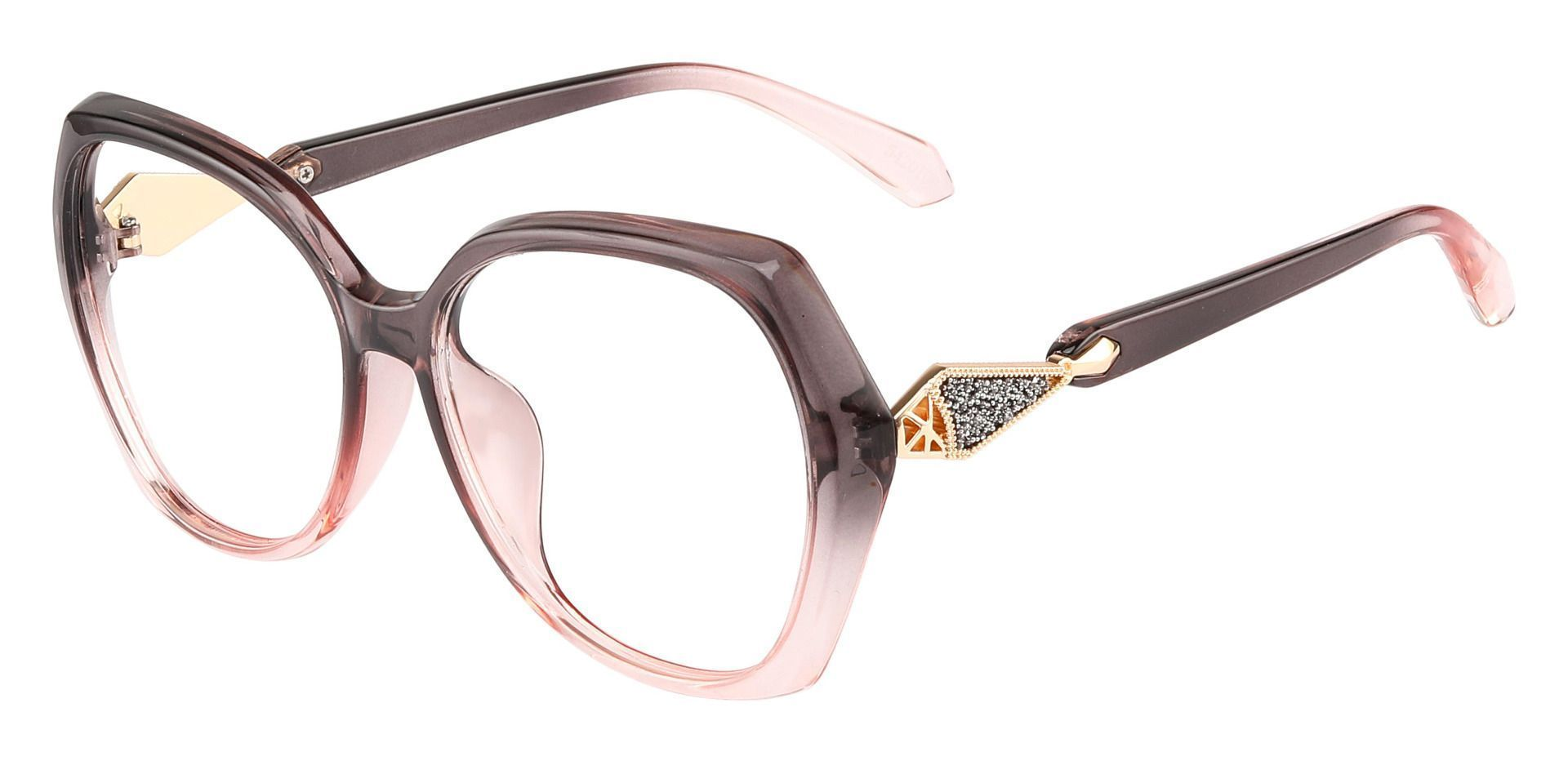 Solitaire Geometric Single Vision Glasses - Pink