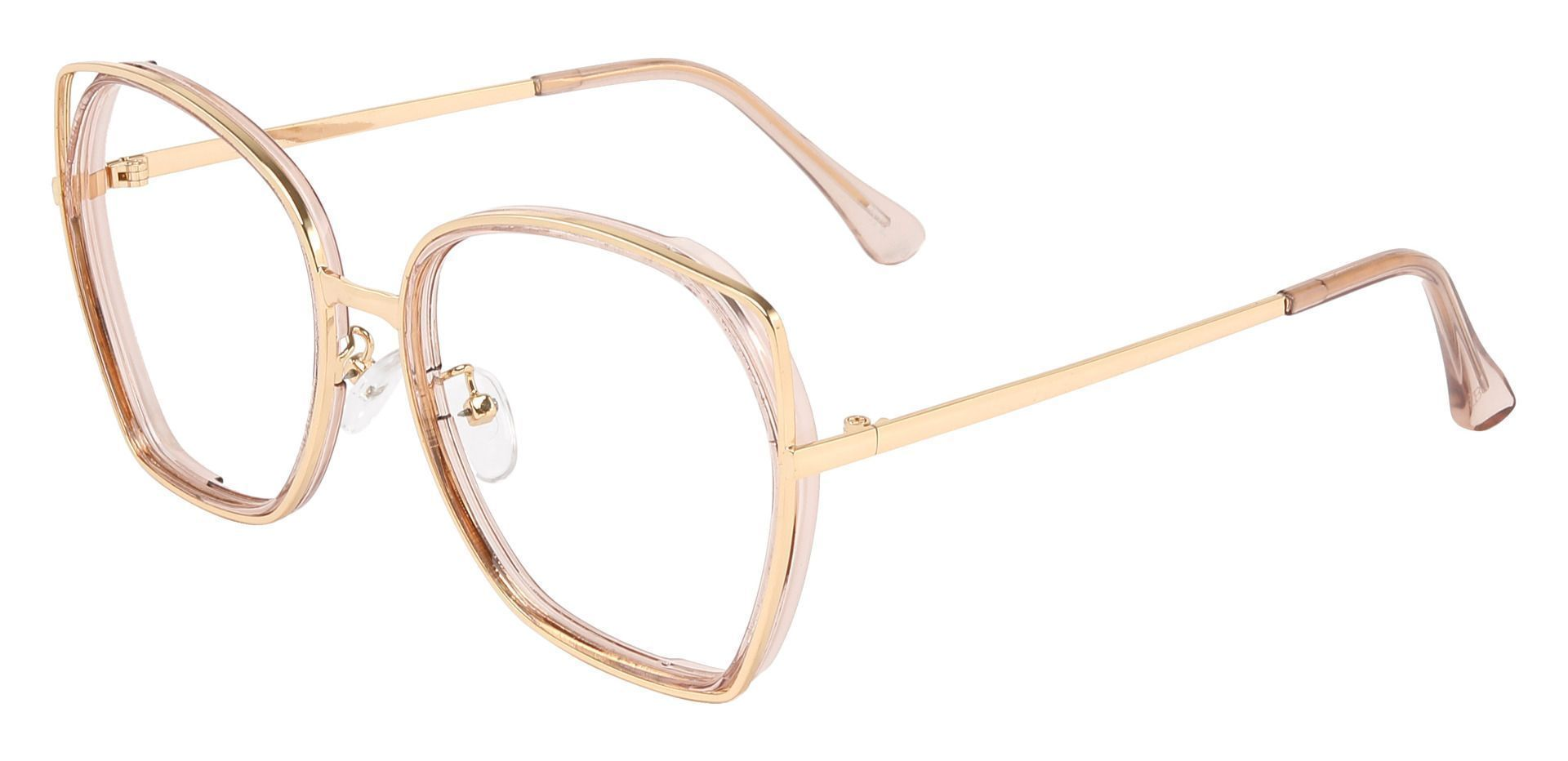 Tabby Geometric Single Vision Glasses - Pink
