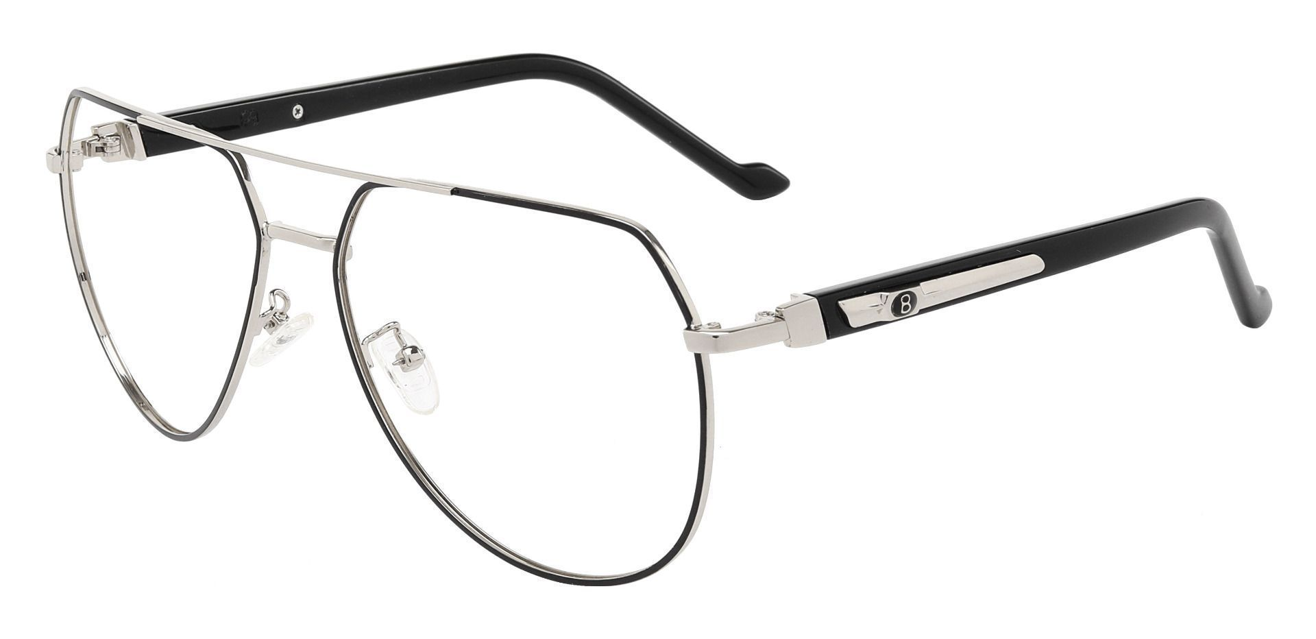 Wright Aviator Single Vision Glasses - Black