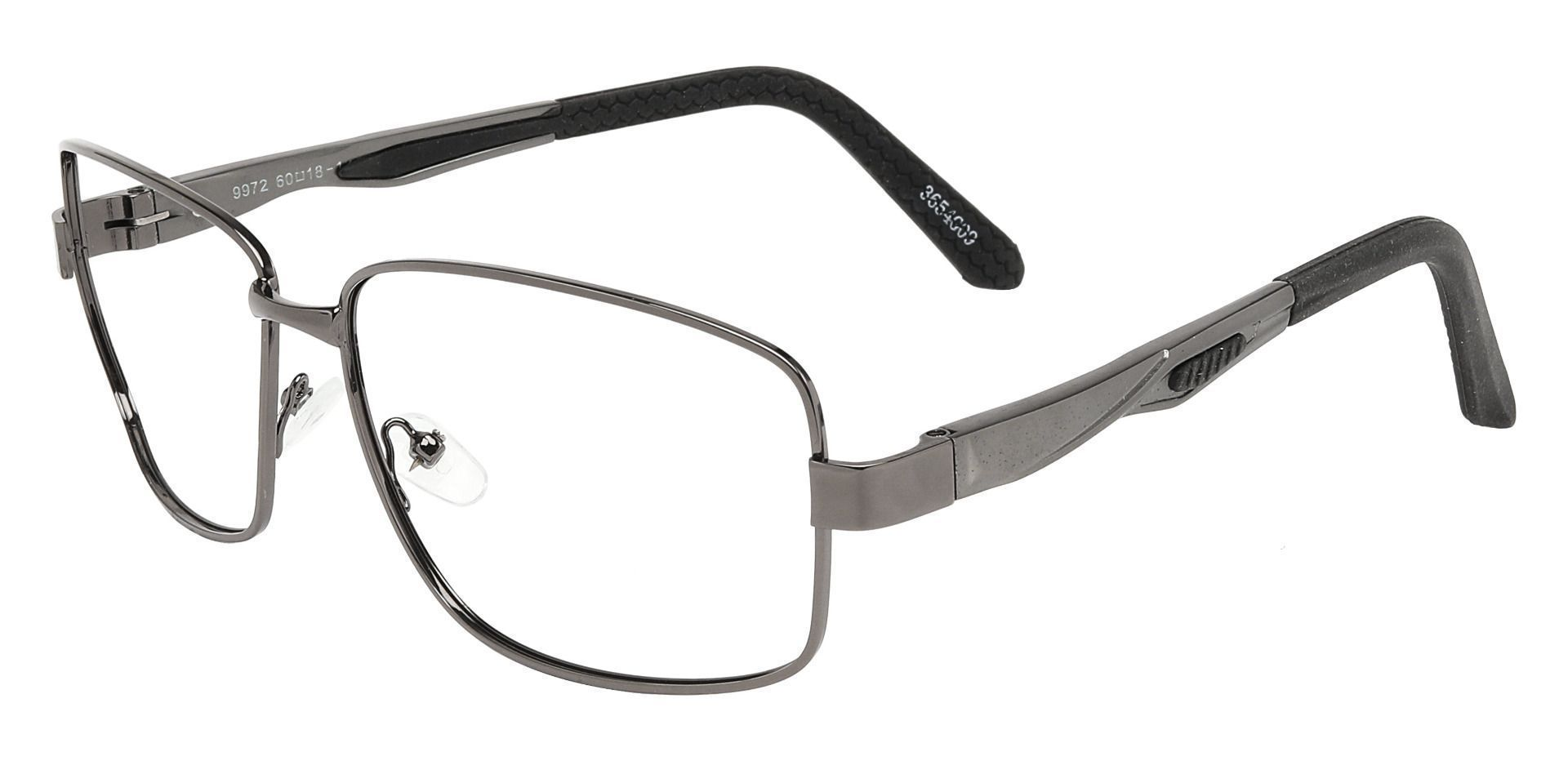 Greg Rectangle Single Vision Glasses - Gray
