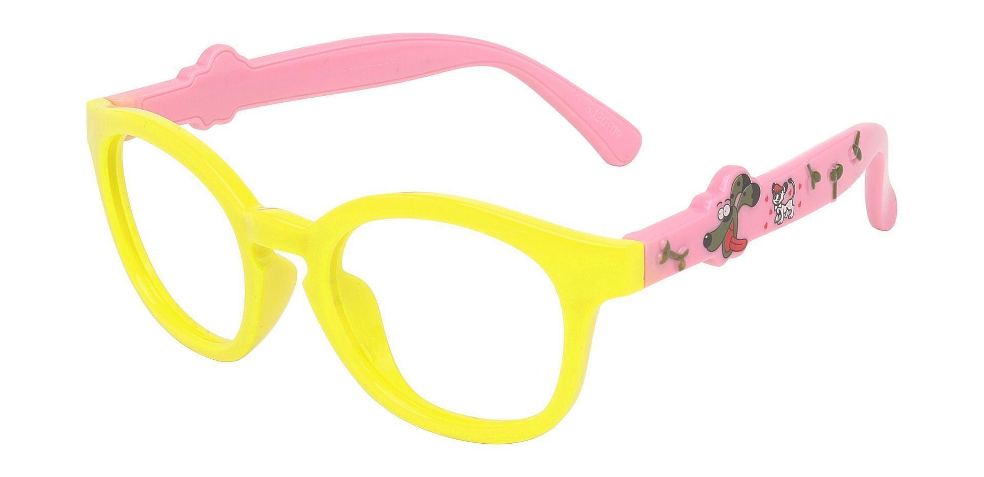 Saffron Round Single Vision Glasses - Yellow