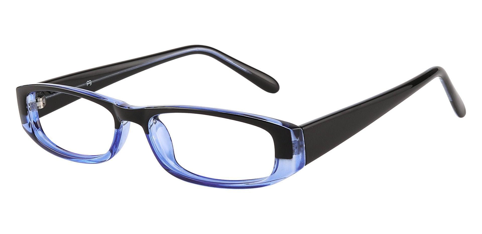 Elgin Rectangle Single Vision Glasses - Blue