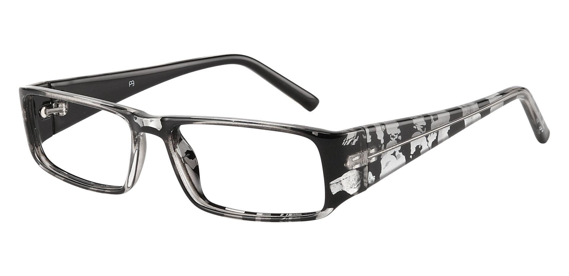 Elbert Rectangle Single Vision Glasses - Black