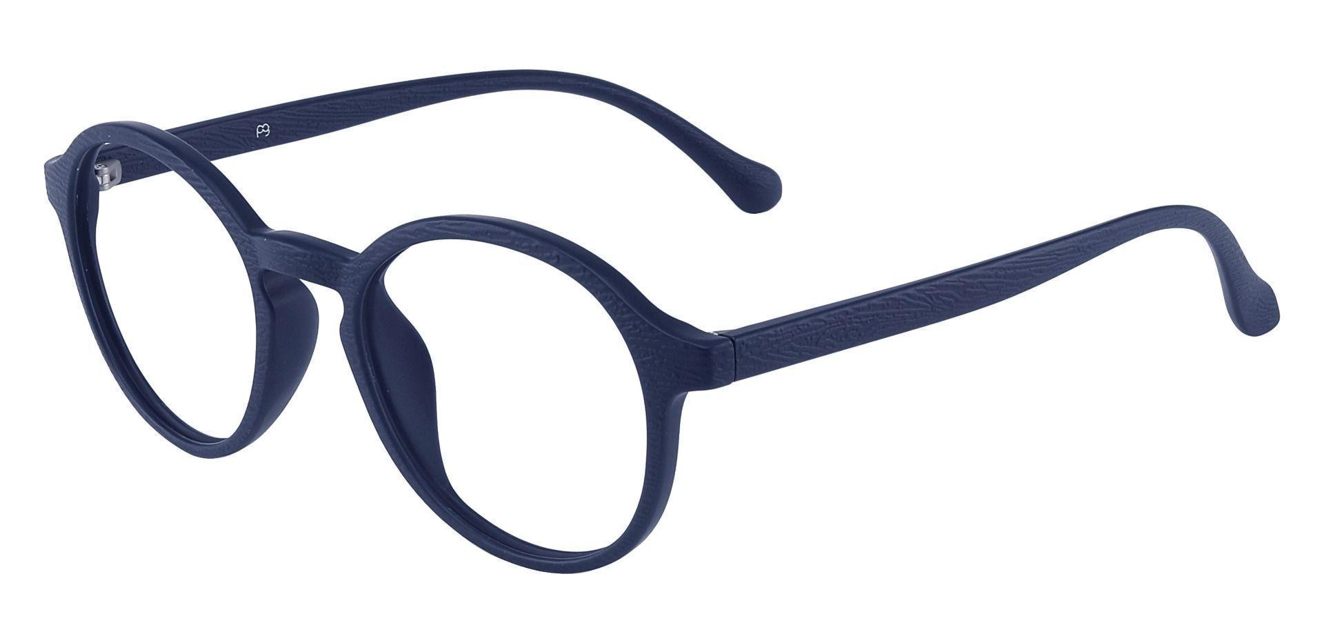Whitney Round Prescription Glasses - Blue