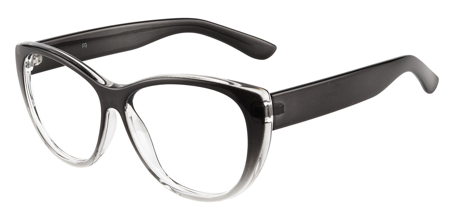 Lynn Cat-Eye Blue Light Blocking Glasses - Gray