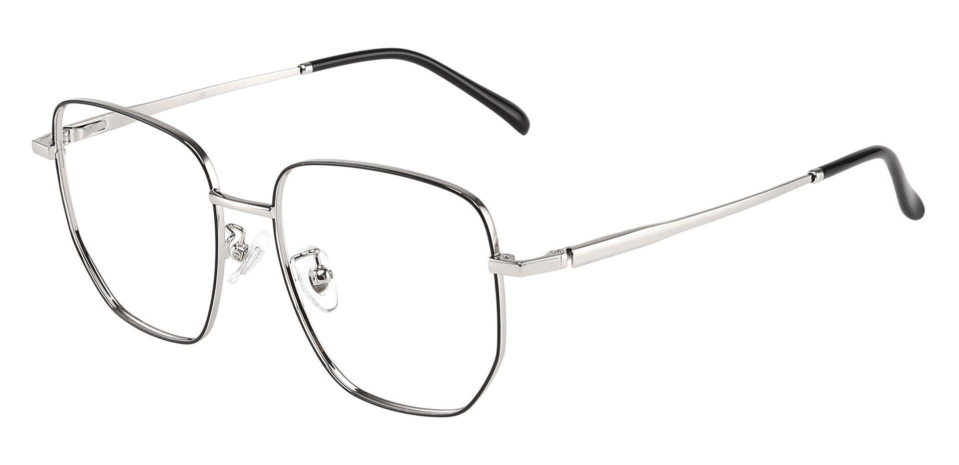 Swayze Geometric Prescription Glasses - Black