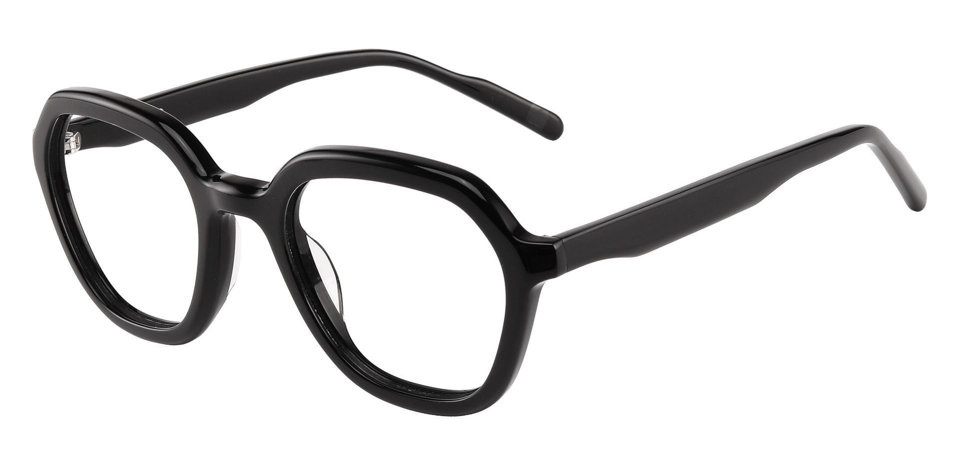 Mandarin Geometric Prescription Glasses - Black