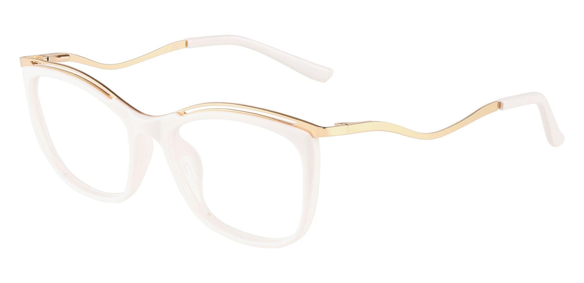Enola Cat Eye Prescription Glasses - White