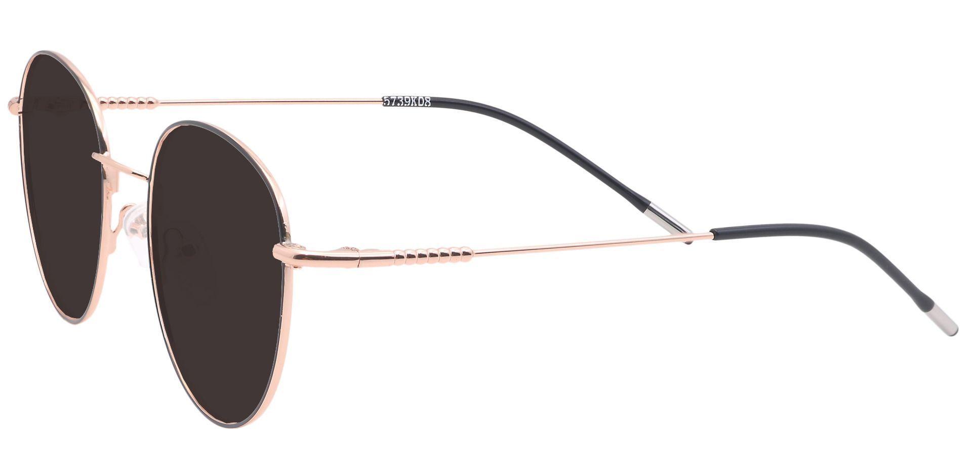 Keaton Oval Prescription Sunglasses - Black Frame With Gray Lenses