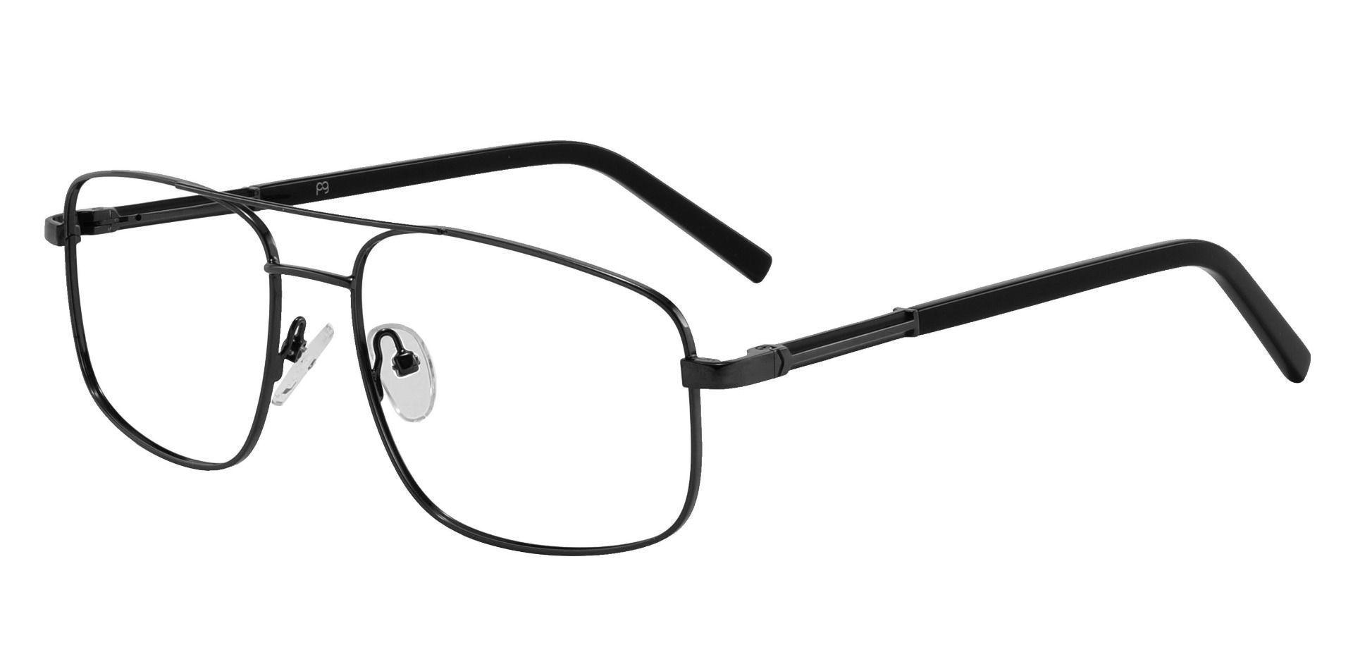 Davenport Aviator Prescription Glasses - Black