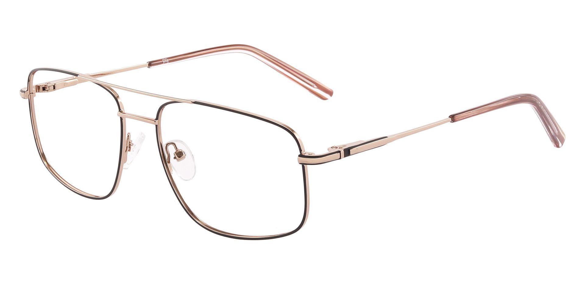 Turner Aviator Prescription Glasses - Gold