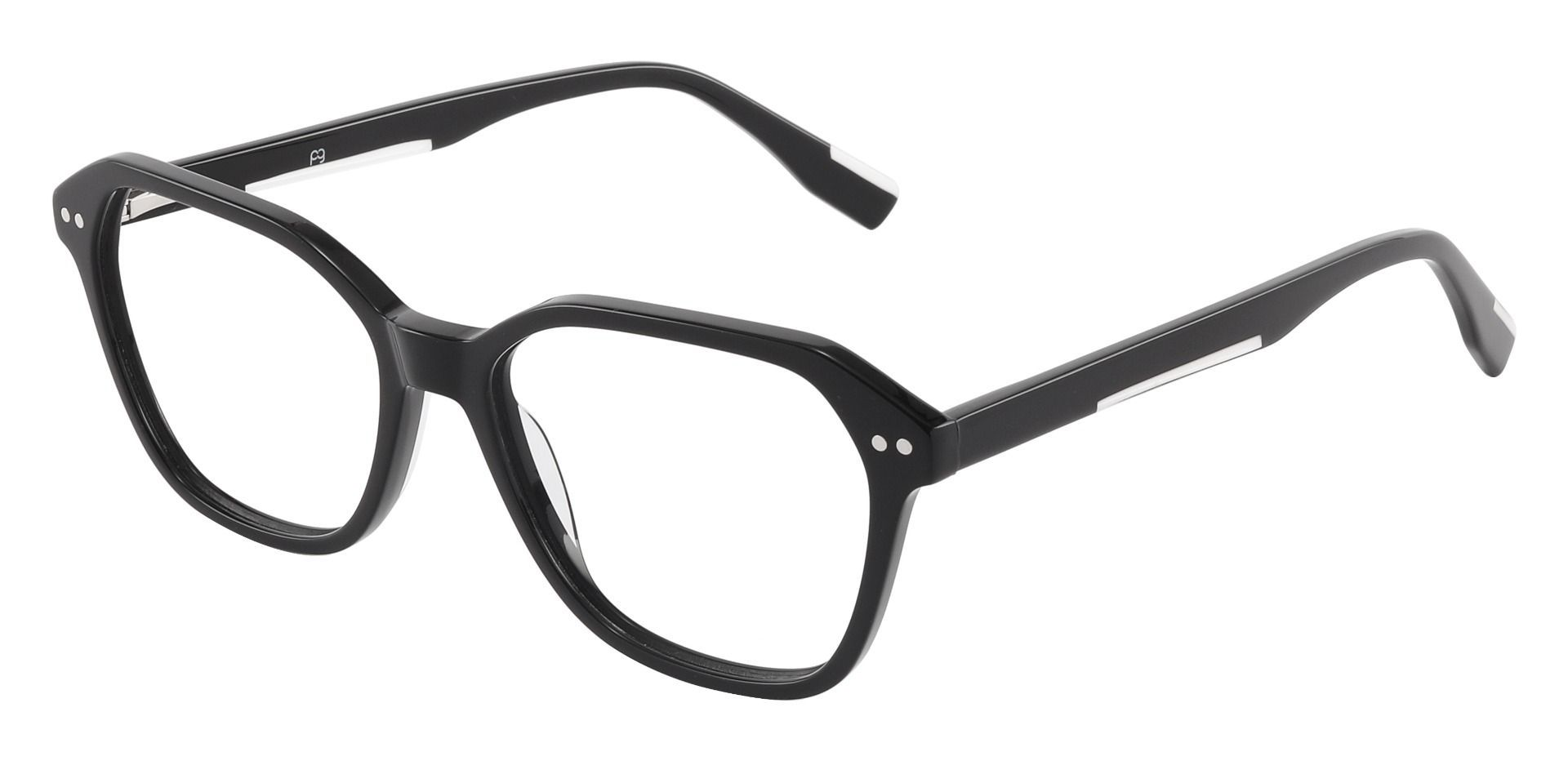 Cicero Geometric Prescription Glasses - Black