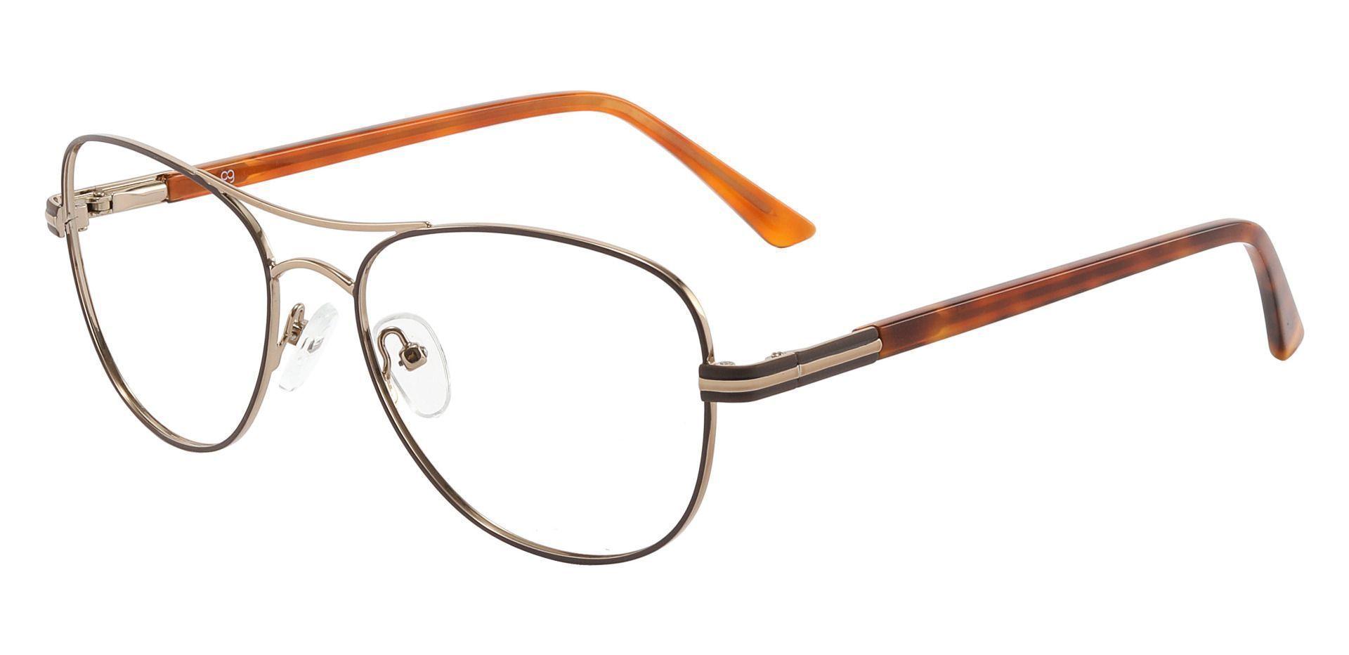 Reeves Aviator Prescription Glasses - Brown
