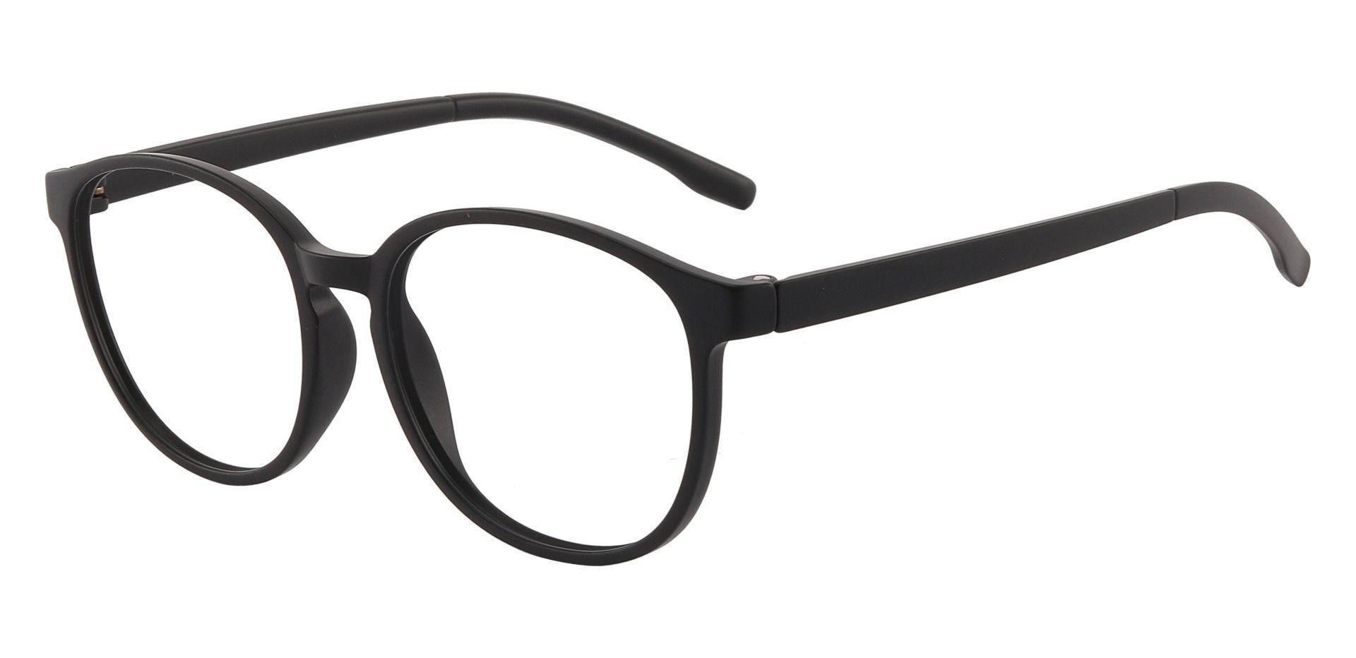 Molasses Oval Prescription Glasses - Black