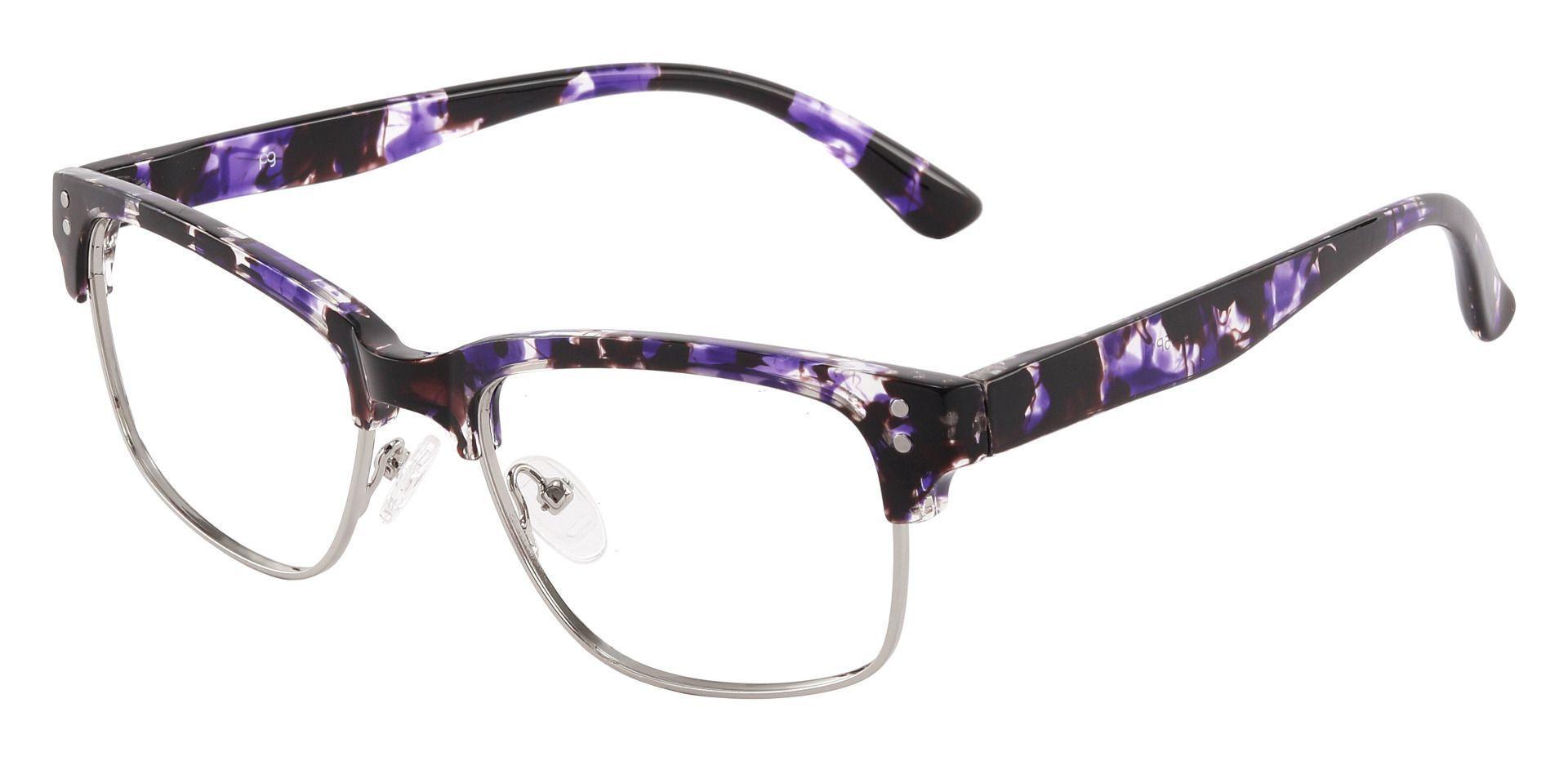 Burnett Browline Prescription Glasses - Purple