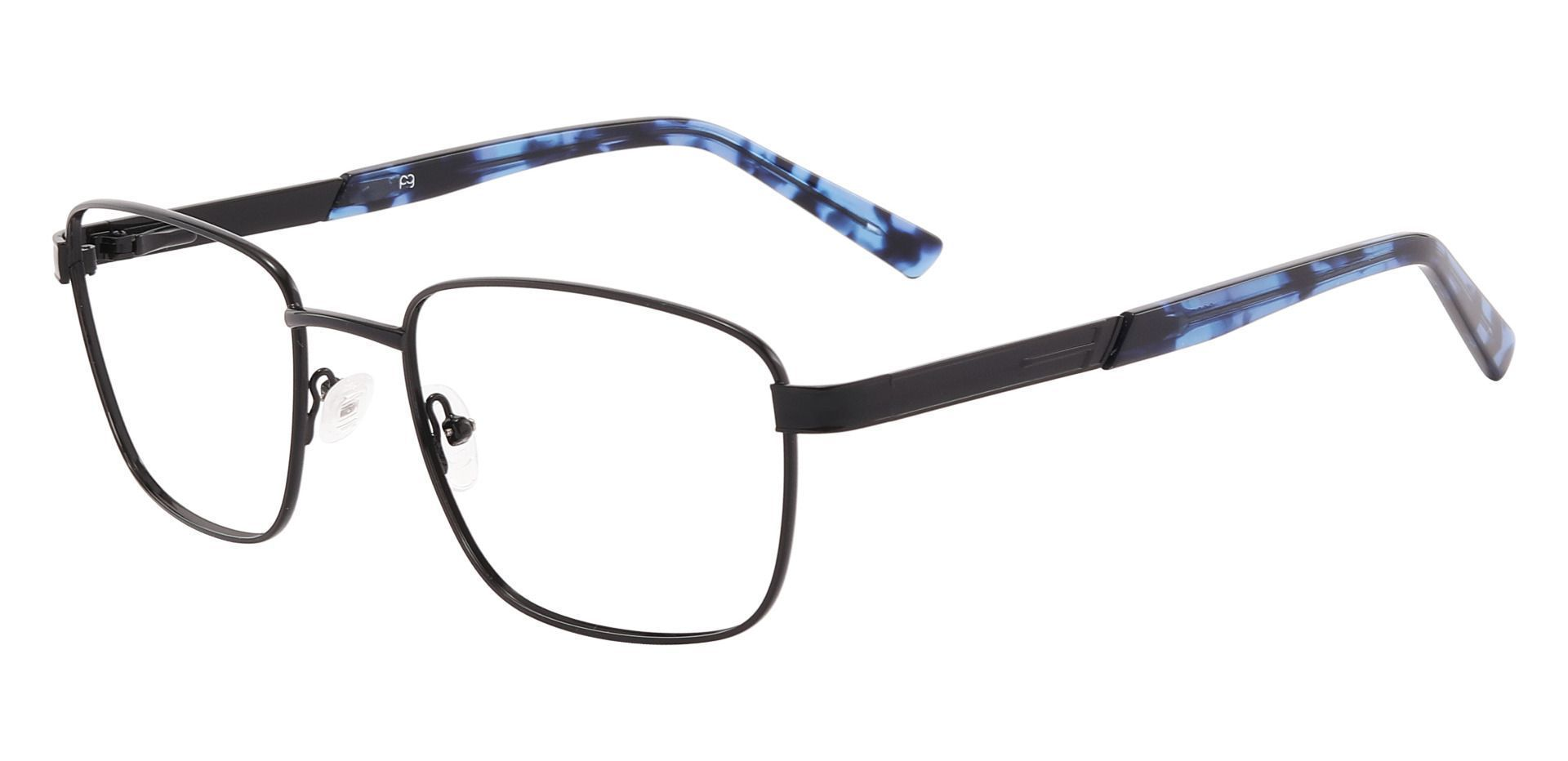 Brandon Rectangle Prescription Glasses - Black