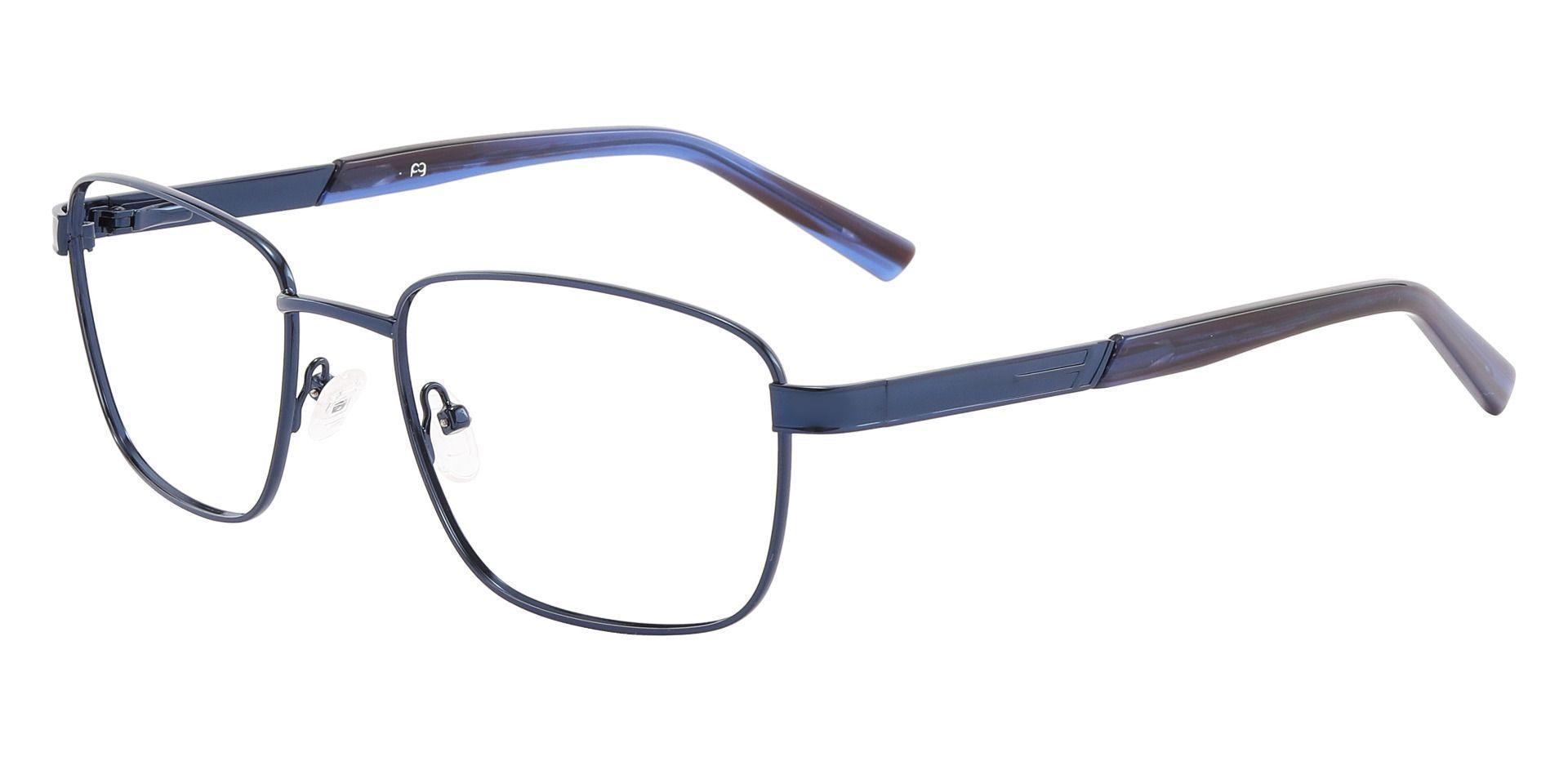 Brandon Rectangle Prescription Glasses - Blue