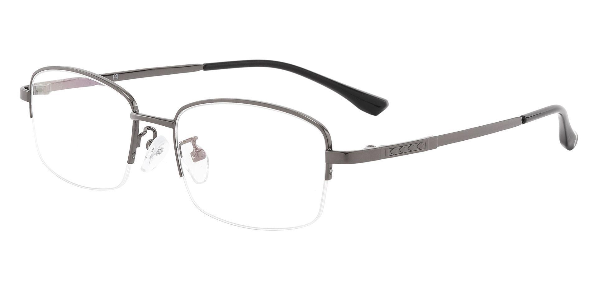 Hopkins Rectangle Prescription Glasses - Gray