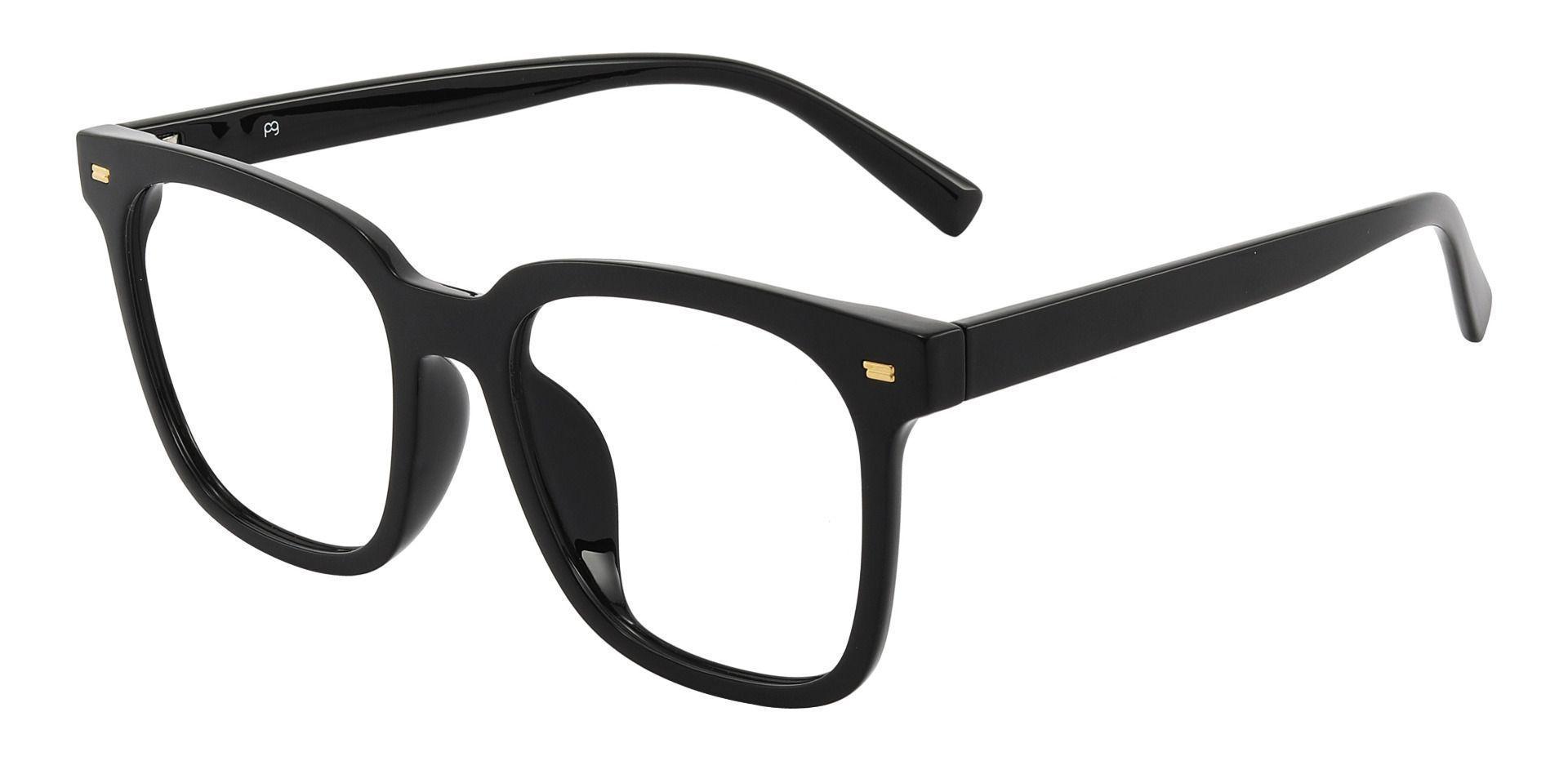 Charlie Oversized Prescription Glasses - Black