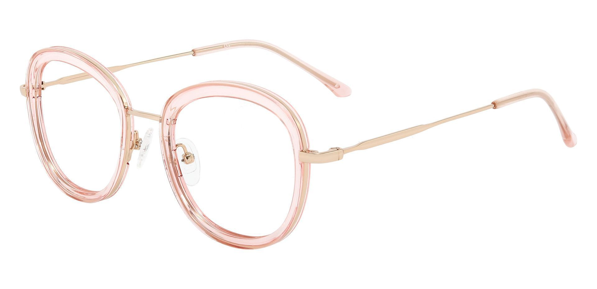 Bourbon Oval Prescription Glasses - Pink