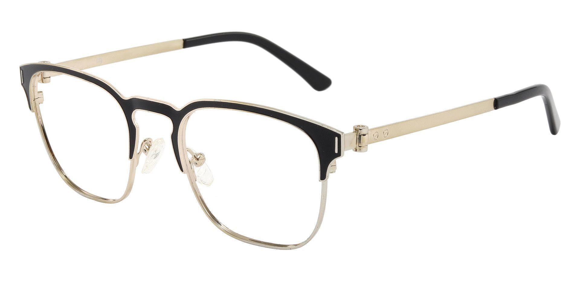 Oran Browline Prescription Glasses - Black
