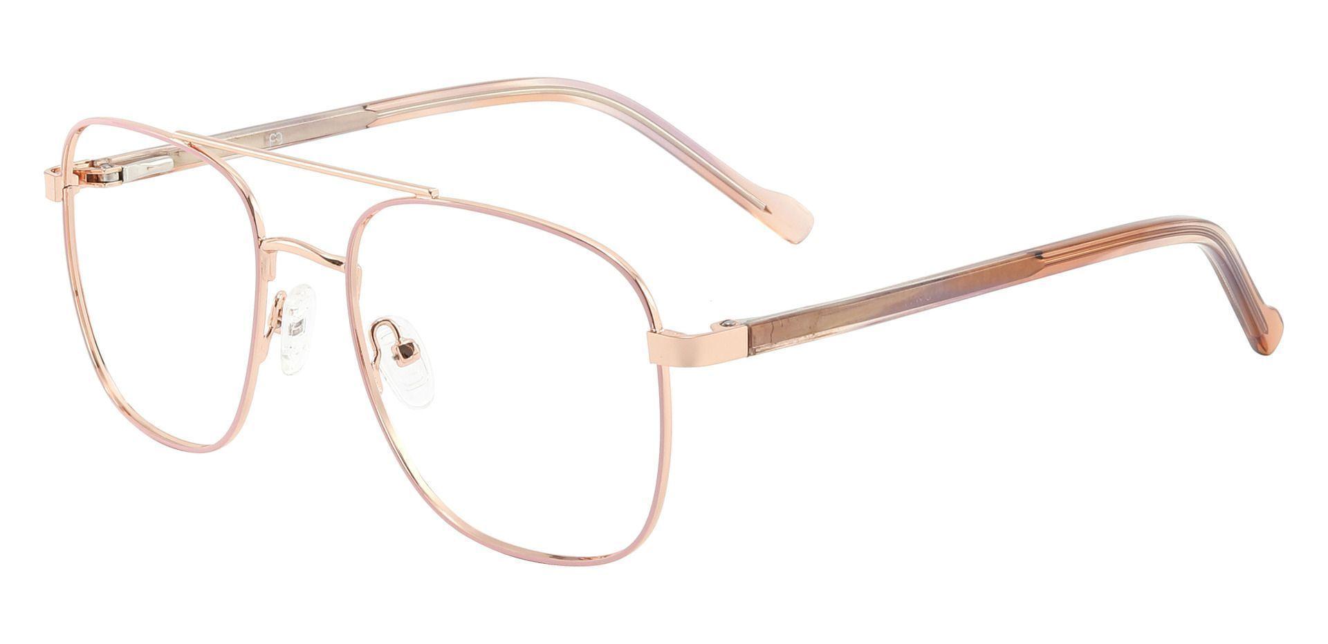 Howell Aviator Prescription Glasses - Pink