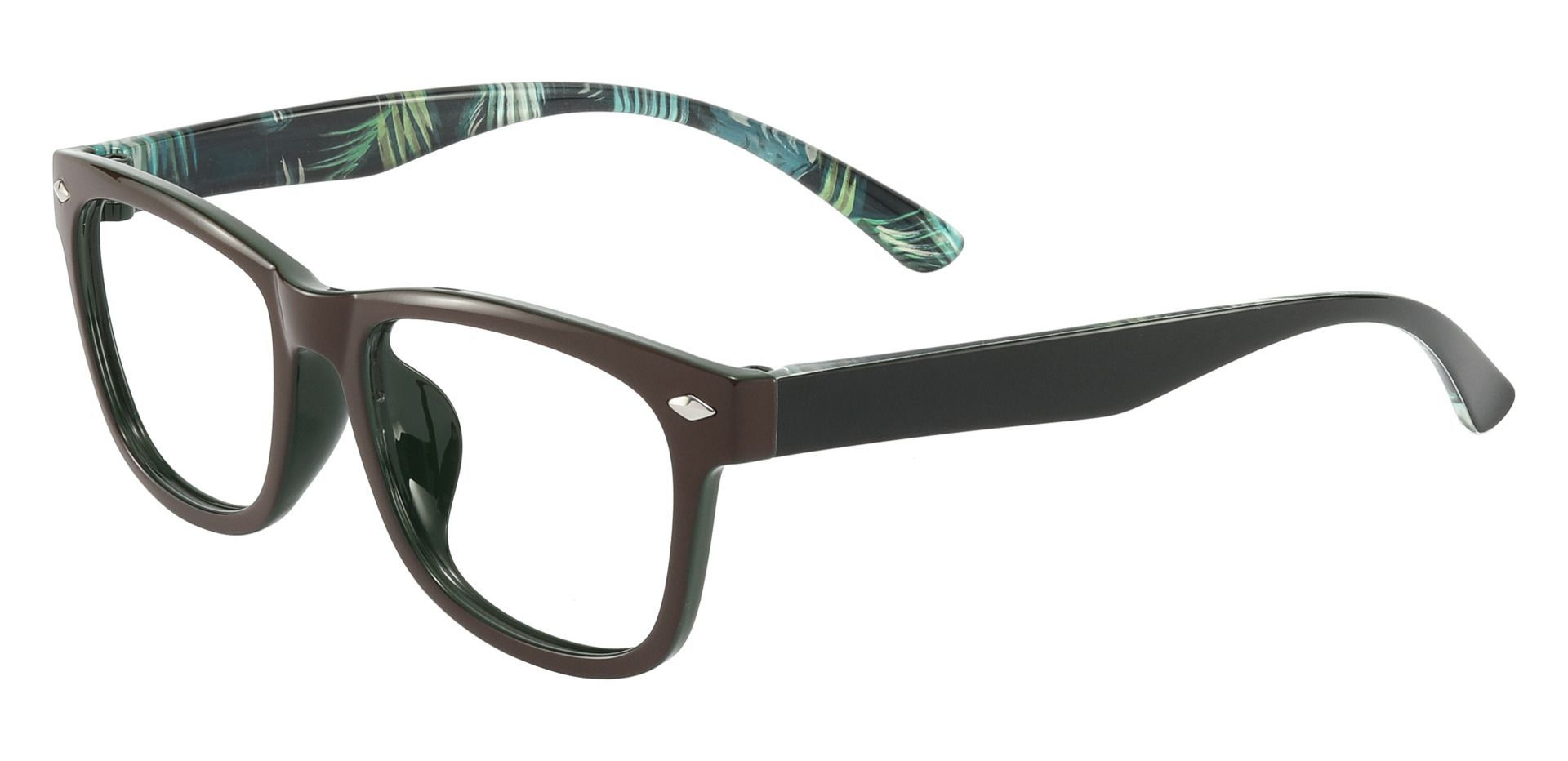 Shaler Square Prescription Glasses - Brown
