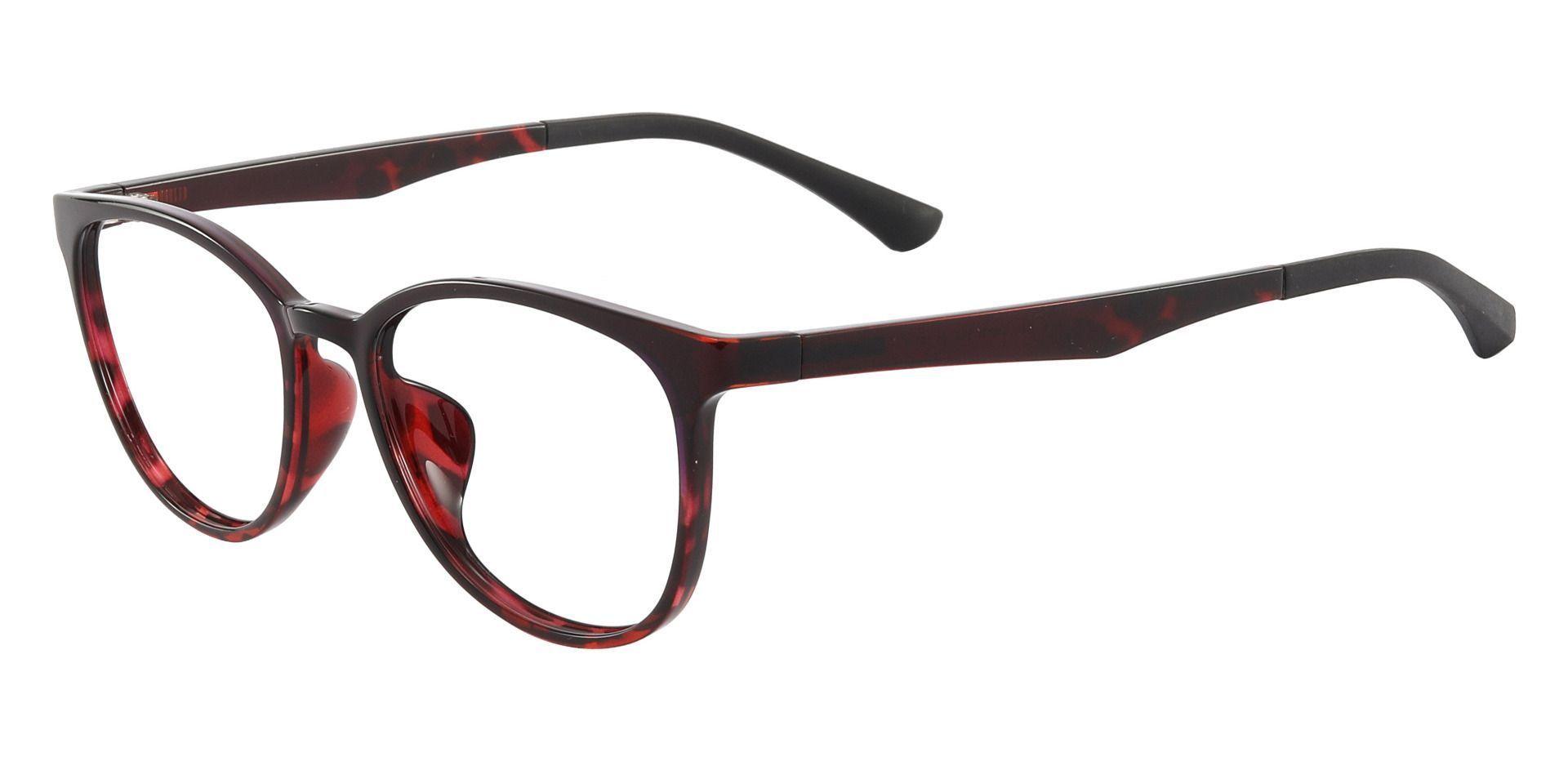 Pembroke Oval Prescription Glasses - Red