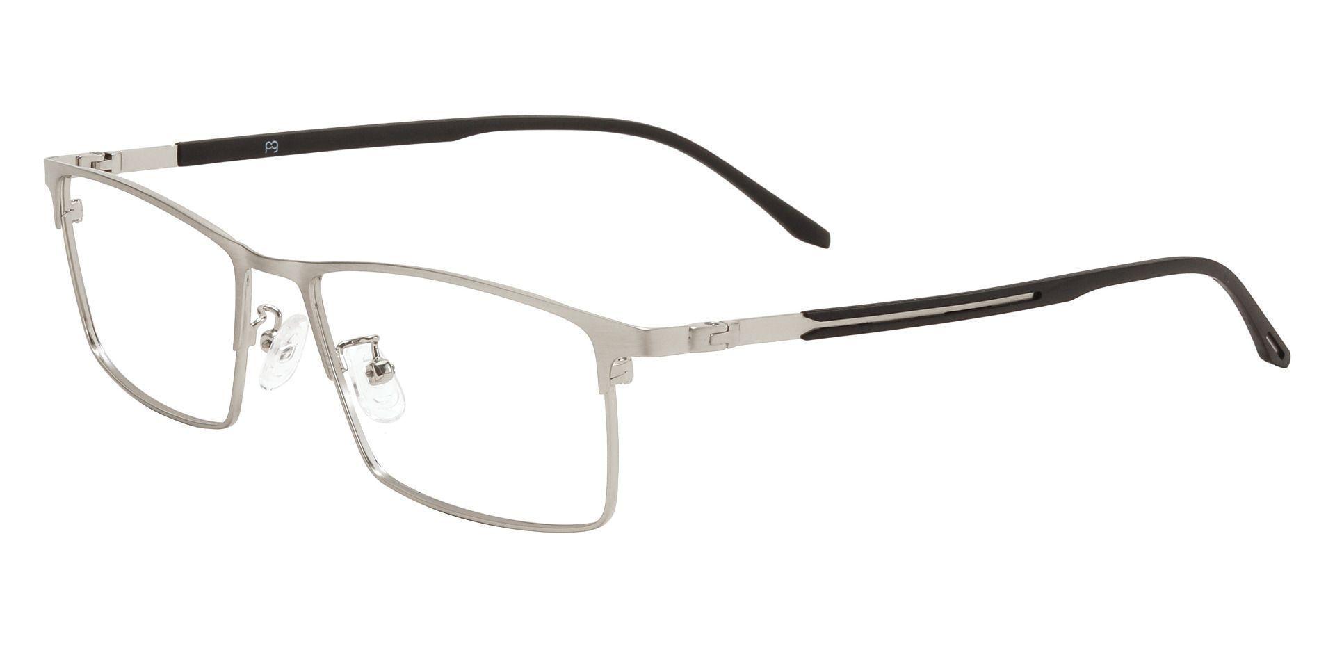 Regis Rectangle Prescription Glasses - Silver